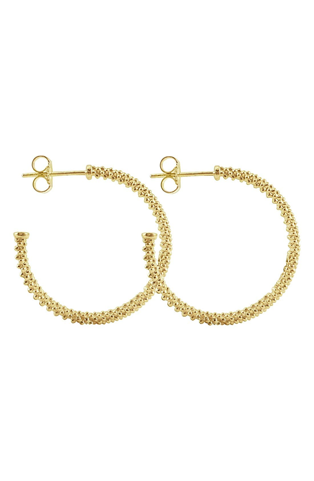LAGOS Caviar Gold Hoop Earrings