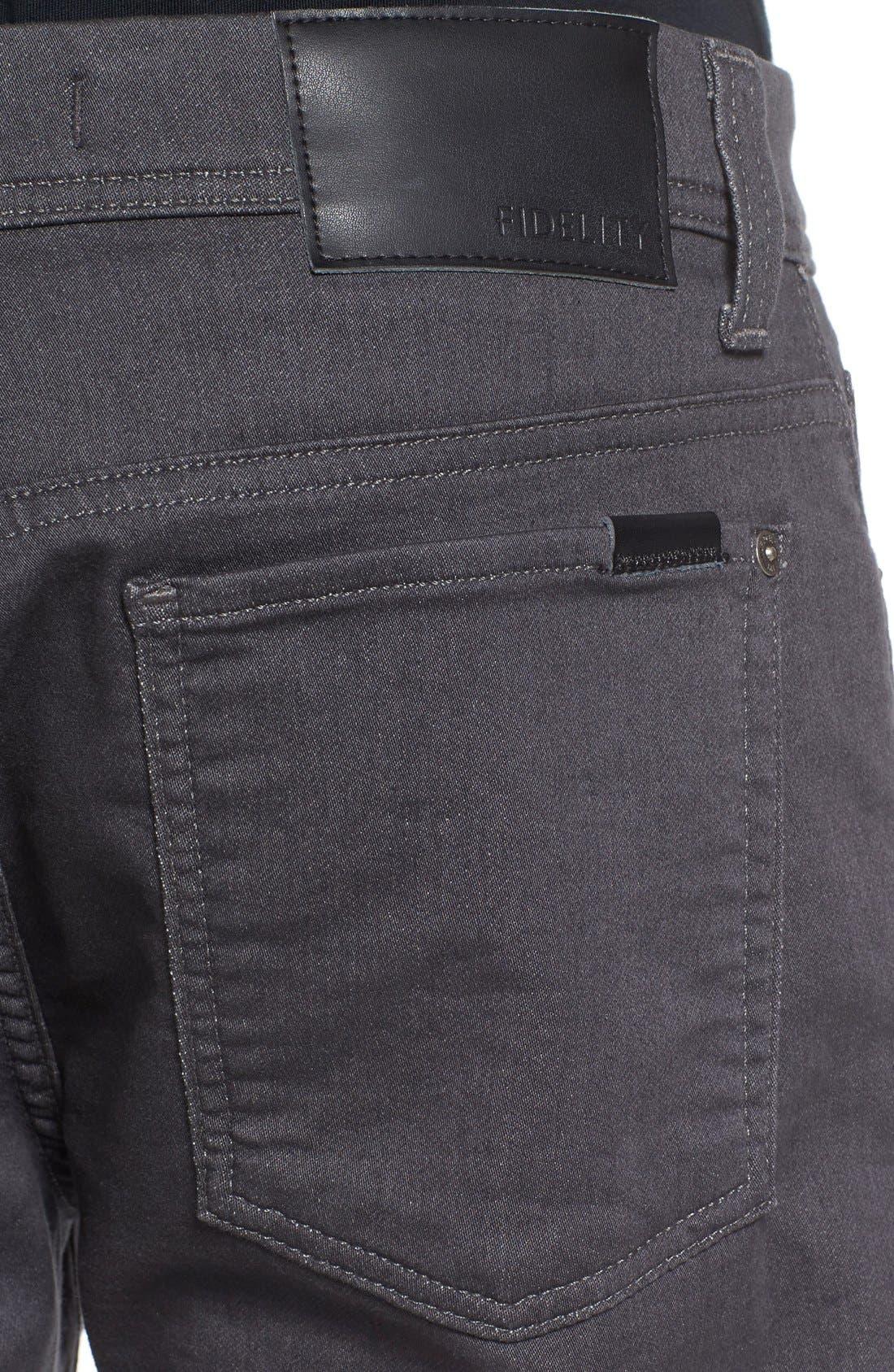 Torino Slim Fit Jeans,                             Alternate thumbnail 4, color,                             Fox Grey