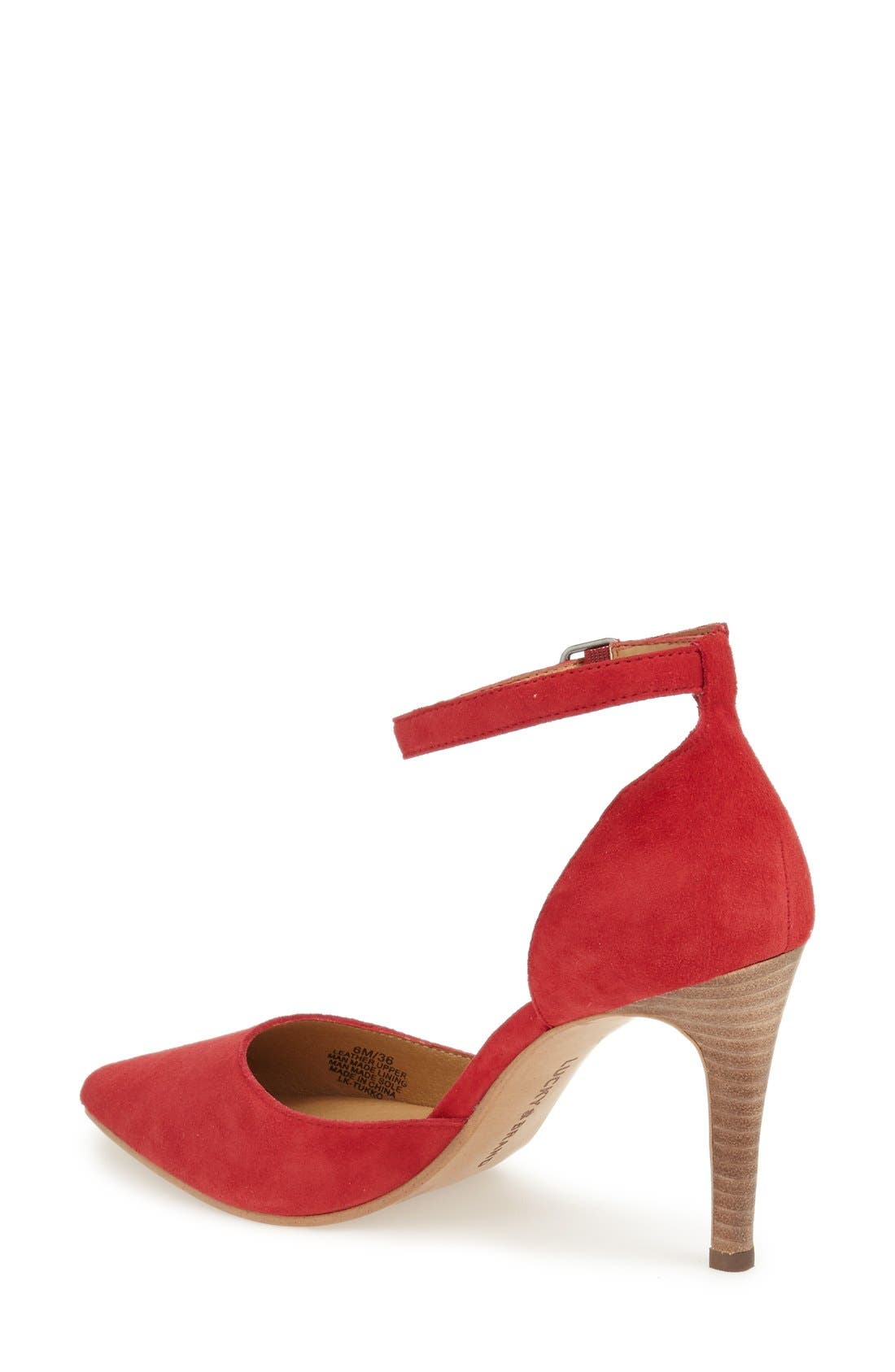 Alternate Image 2  - Lucky Brand 'Tukko' d'Orsay Ankle Strap Pump (Women)