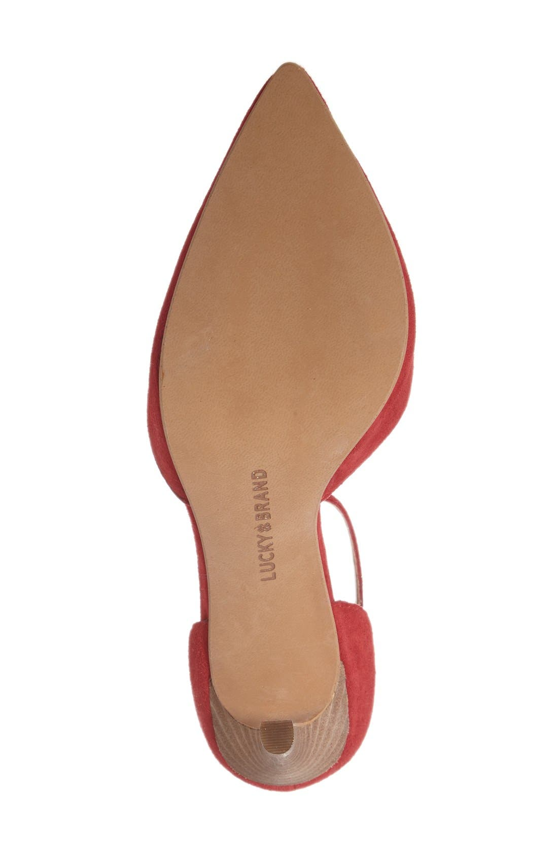 Alternate Image 4  - Lucky Brand 'Tukko' d'Orsay Ankle Strap Pump (Women)