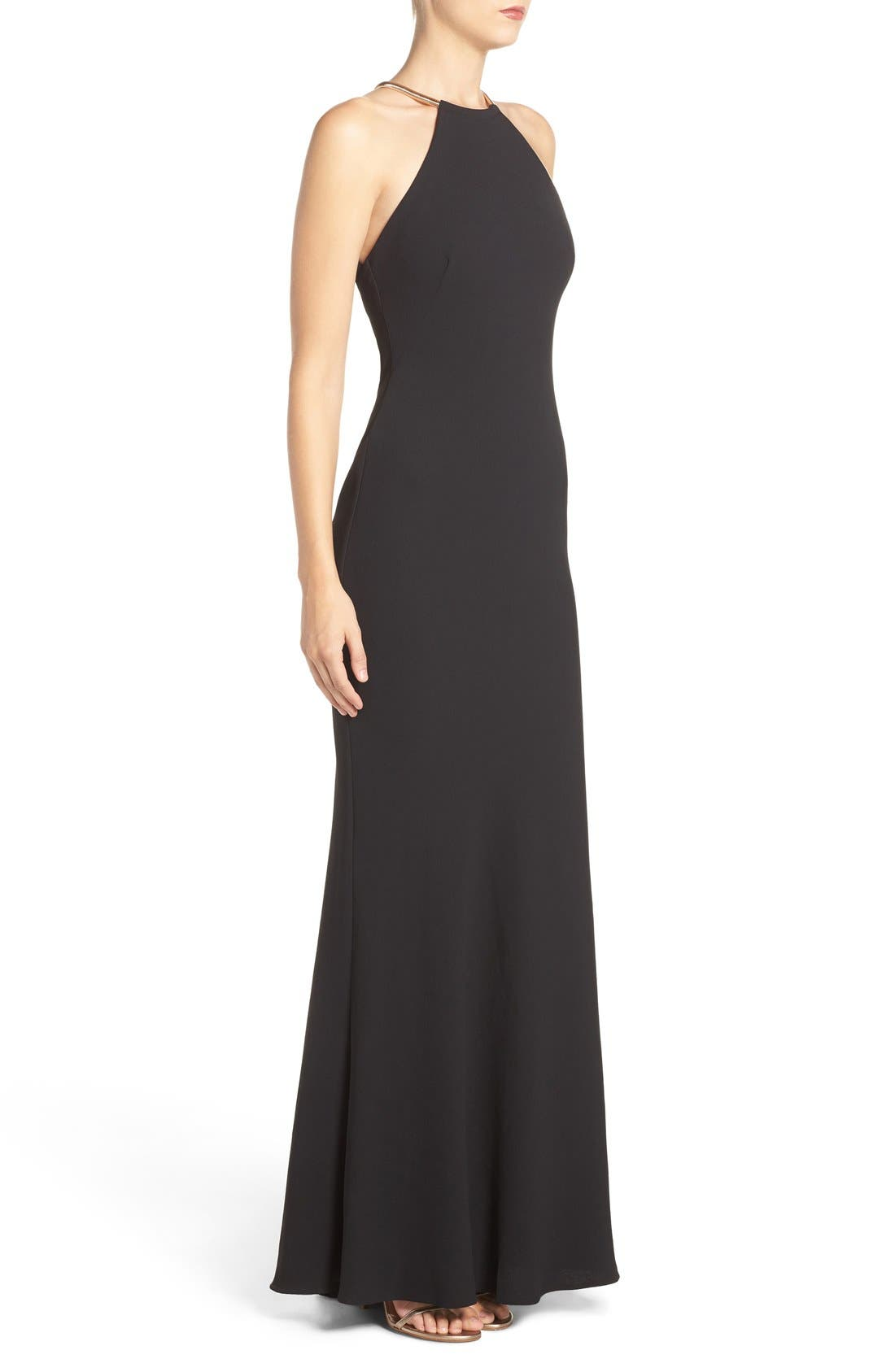 Alternate Image 3  - Xscape Chain Neck Crepe Gown