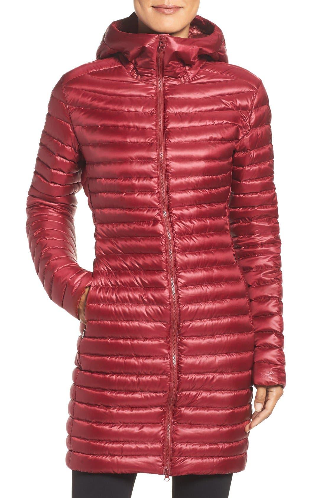 Nuri Down Walking Coat,                         Main,                         color, Rosa