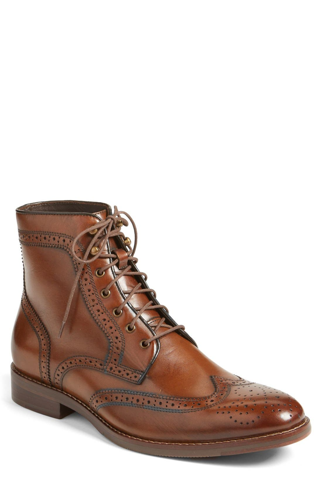 Main Image - J&M 1850 Meritt Wingtip Boot (Men) (Nordstrom Exclusive)