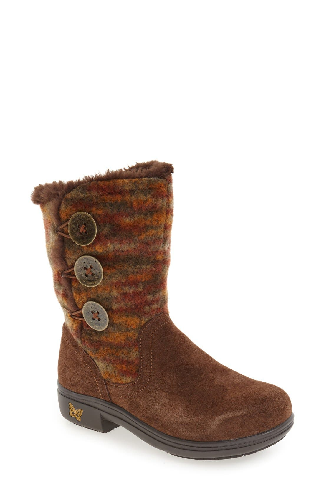 'Nanook' Suede Boot,                             Main thumbnail 1, color,                             Pecan Fuzzy Leather