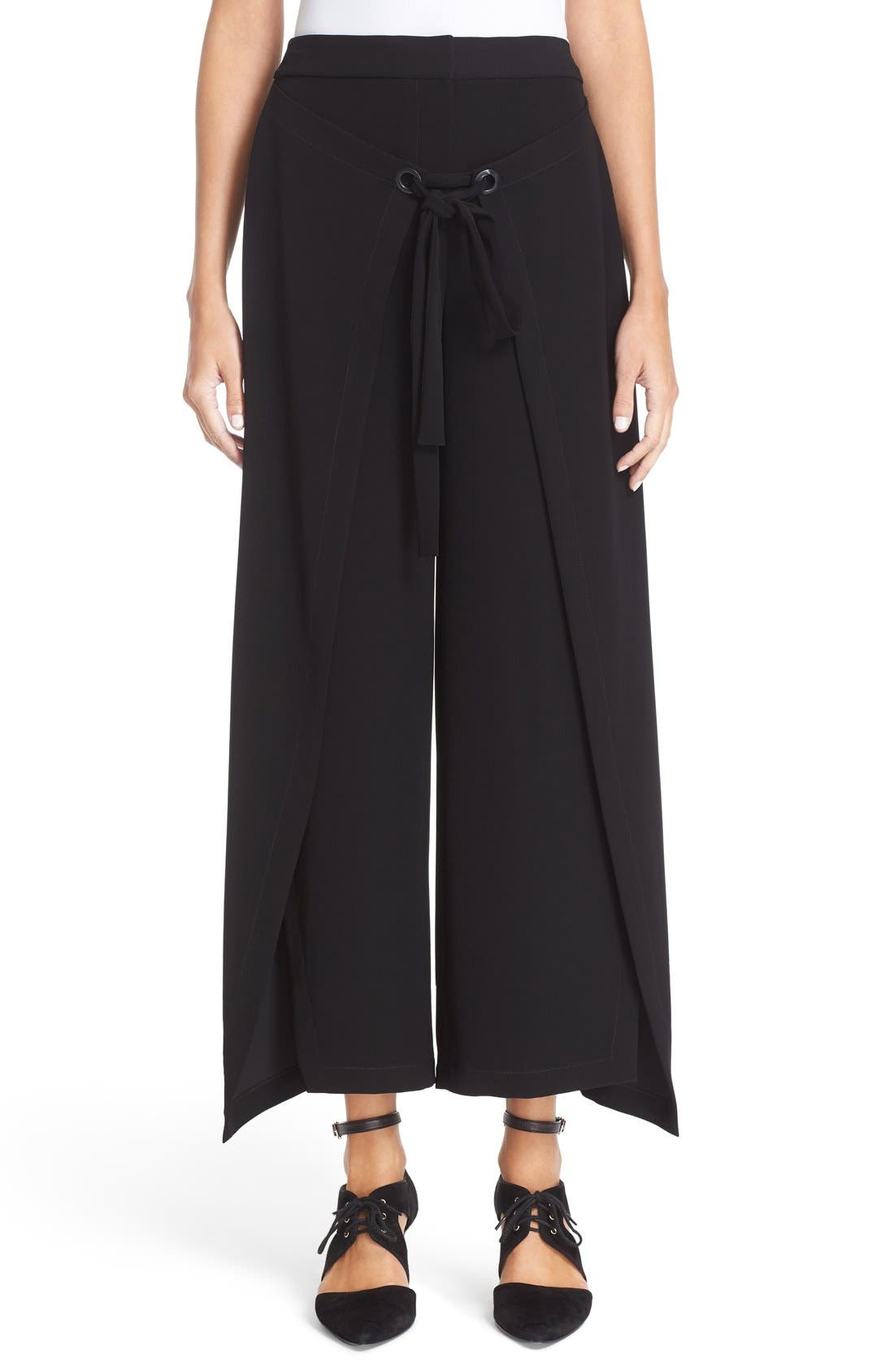 Alternate Image 1 Selected - Yigal Azrouël 'Giorgio' Wrap Front Wide Leg Pants