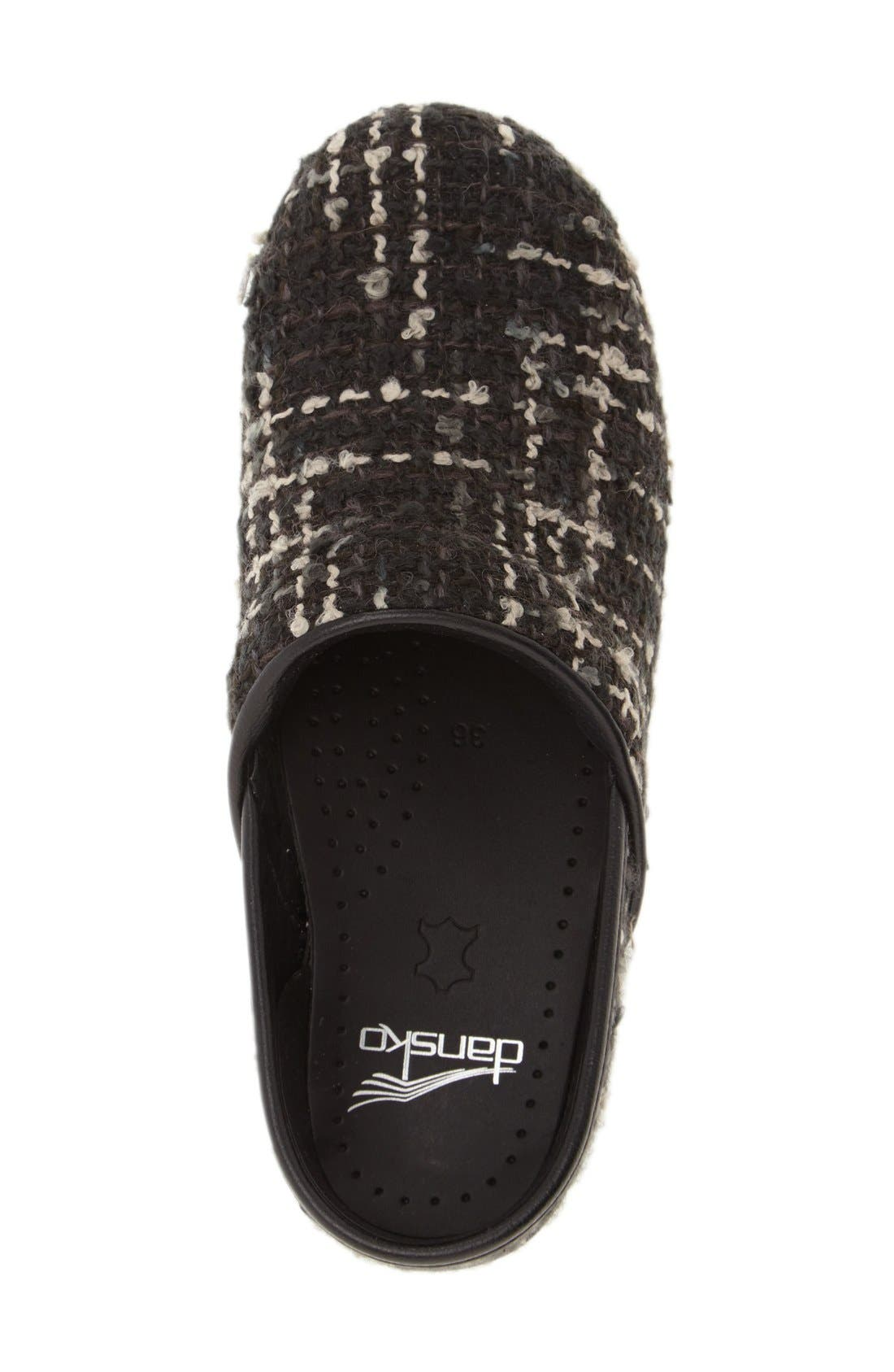 'Pro' Pattern Clog,                             Alternate thumbnail 3, color,                             Black Textured Fabric