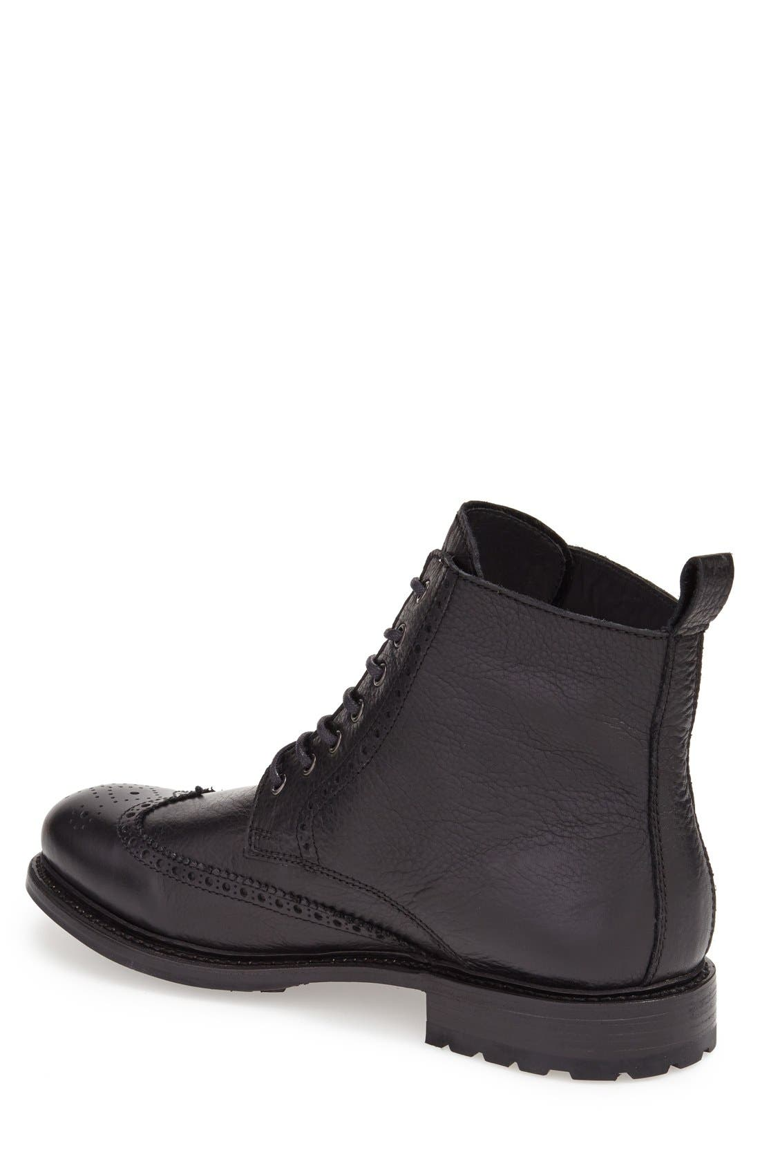 'KM24' Wingtip Boot,                             Alternate thumbnail 2, color,                             Black