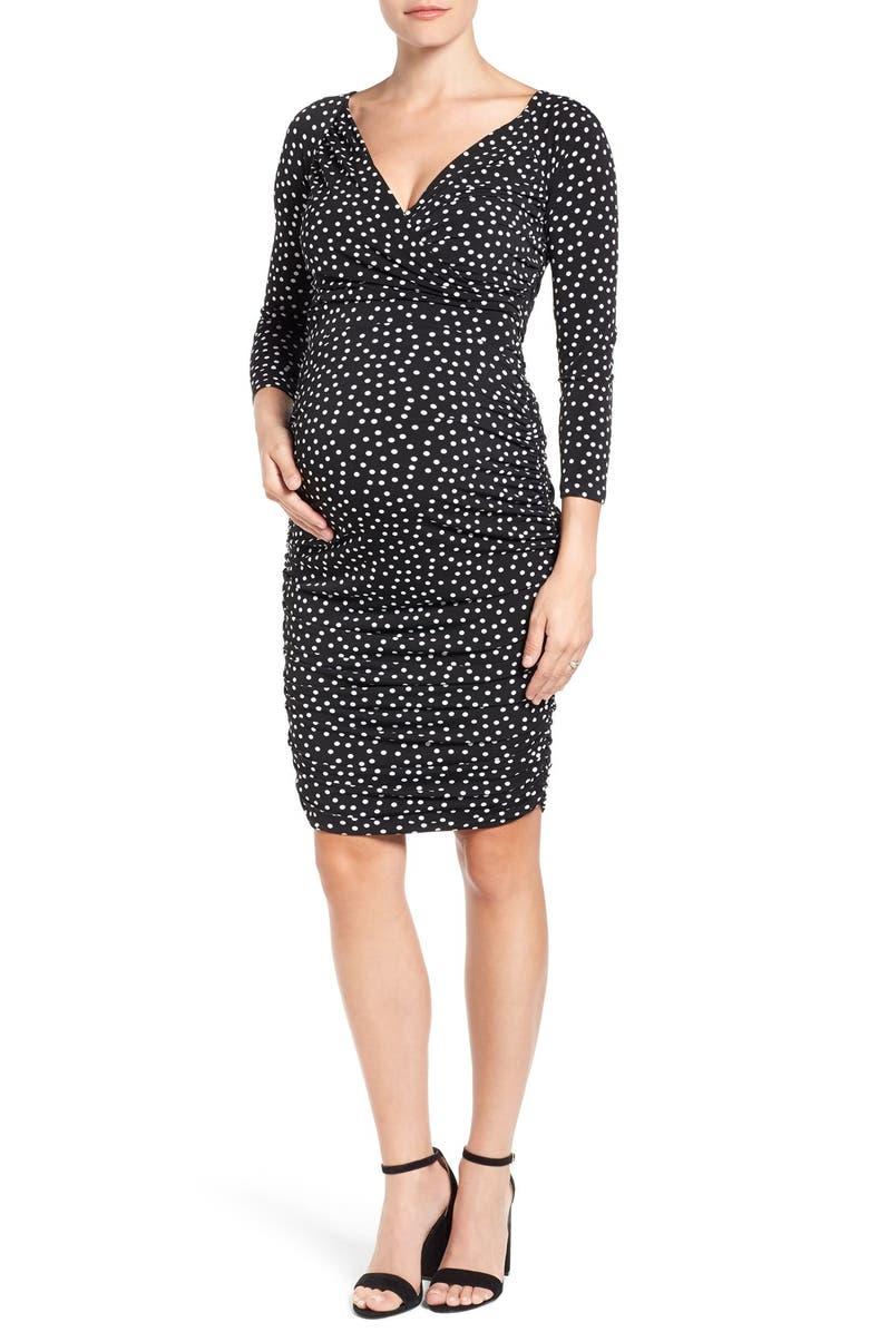 Evelyn Body-Con Maternity Dress