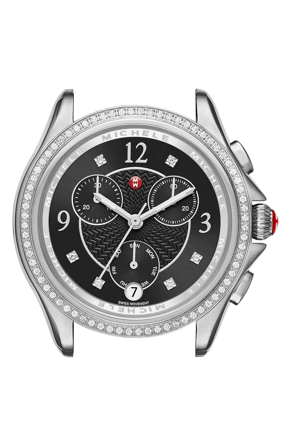 MICHELE Belmore Chrono Diamond Diamond Dial Watch Case, 37mm