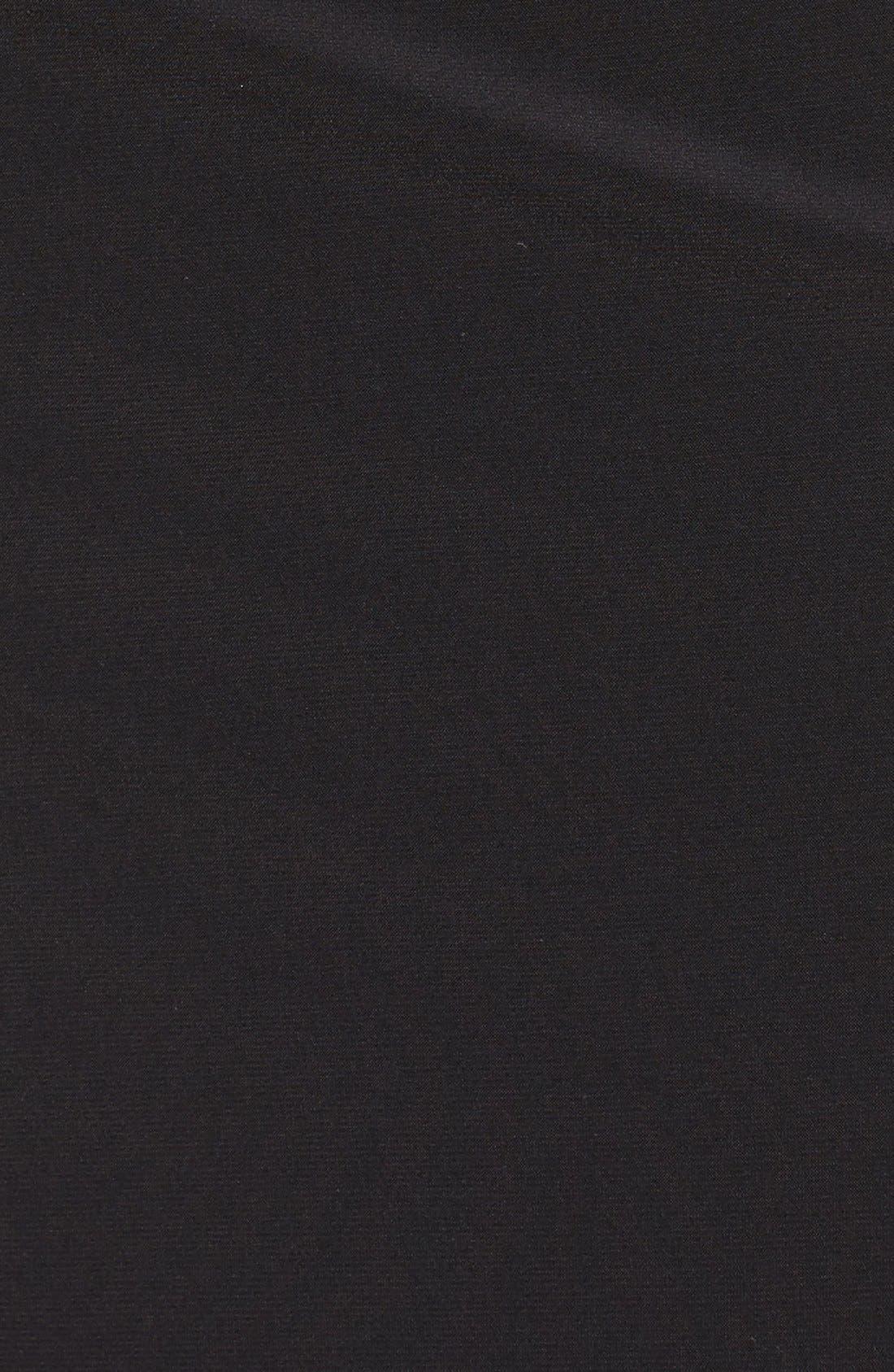 Embellished Cold Shoulder Shirred Jersey Gown,                             Alternate thumbnail 5, color,                             Black/ Gold