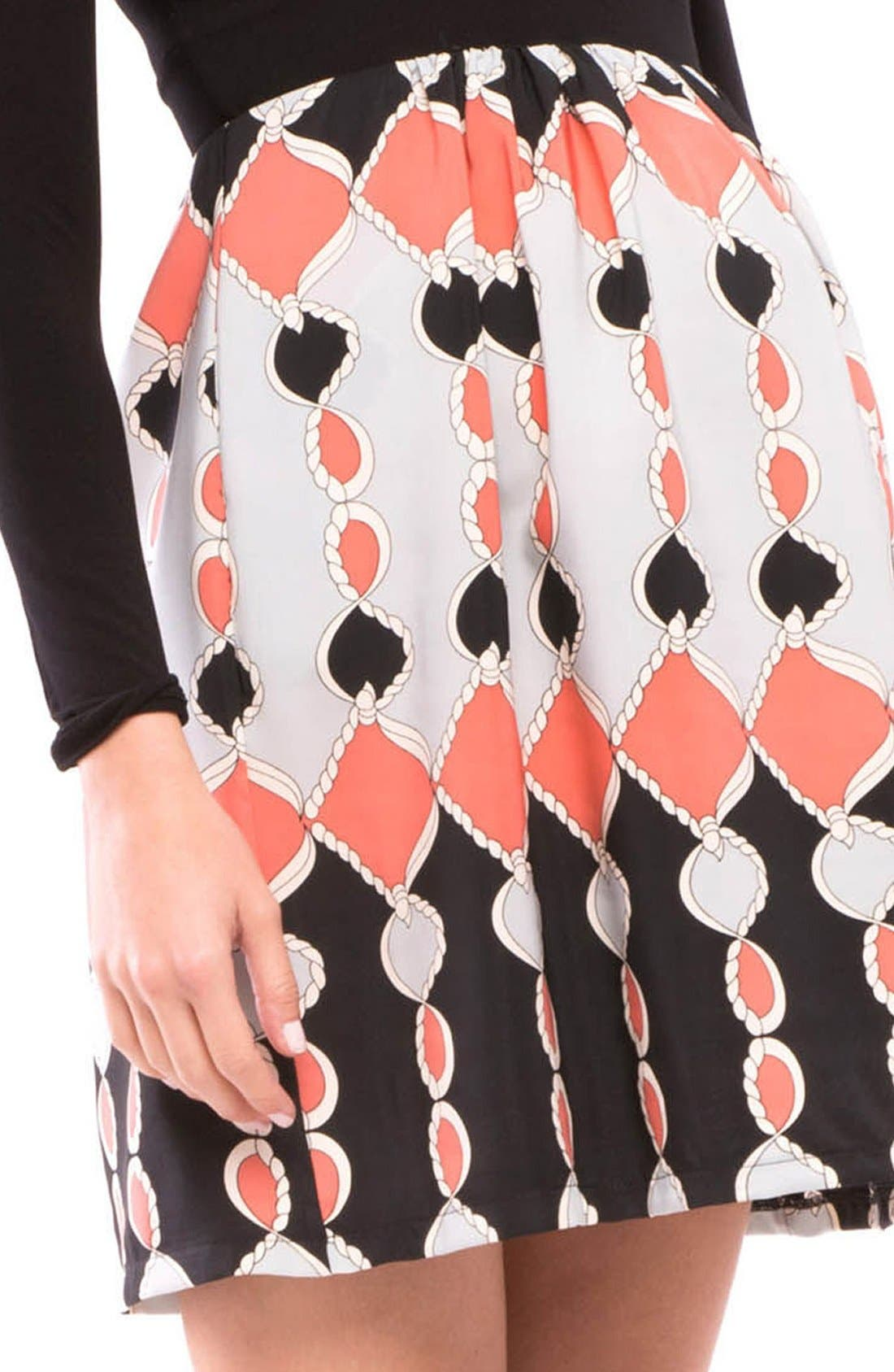 Lexi Print Maternity Dress,                             Alternate thumbnail 5, color,                             Black/ Coral Gray