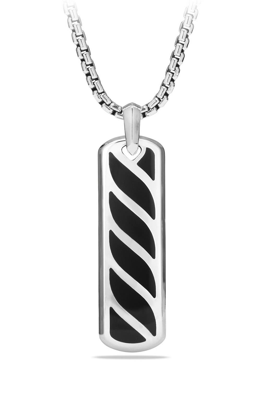 David Yurman 'Graphic Cable' Ingot Tag
