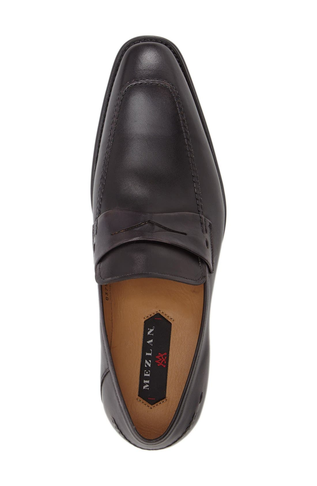 'Trento' Penny Loafer,                             Alternate thumbnail 3, color,                             Black