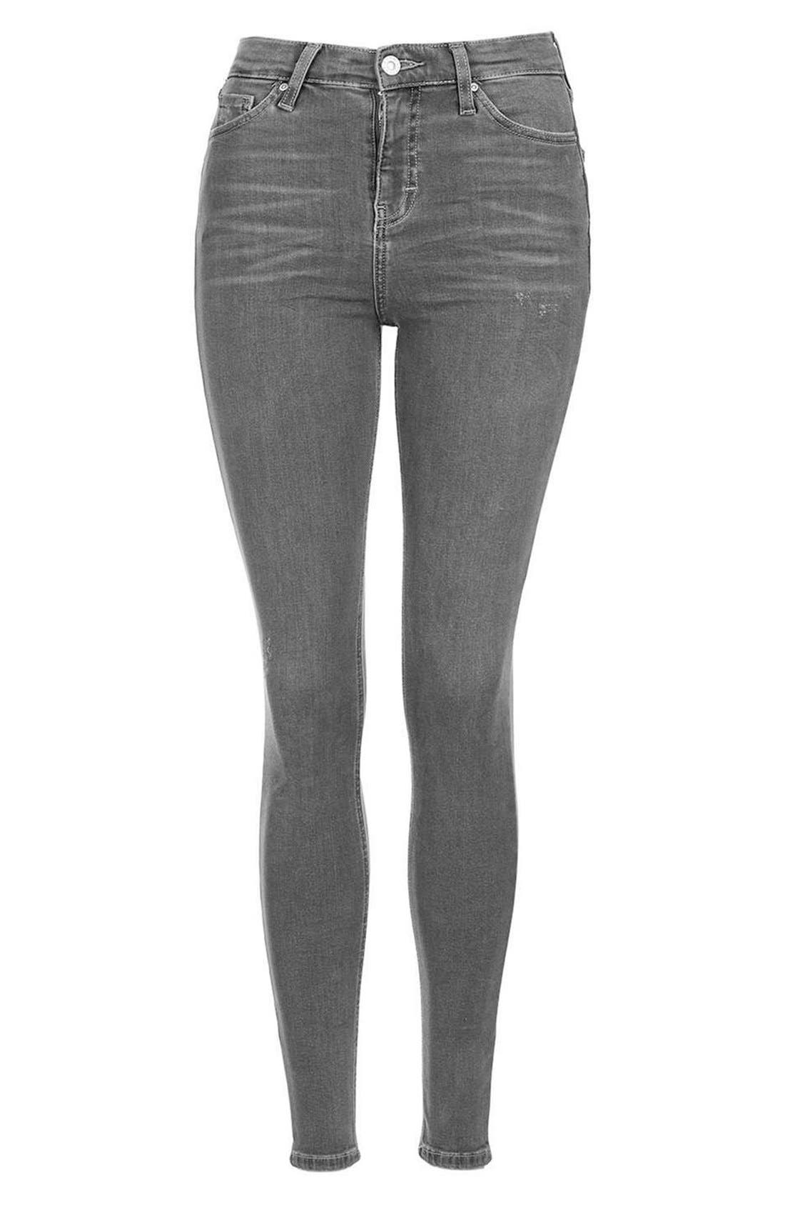 Alternate Image 4  - Topshop Jamie High Rise Ankle Skinny Jeans