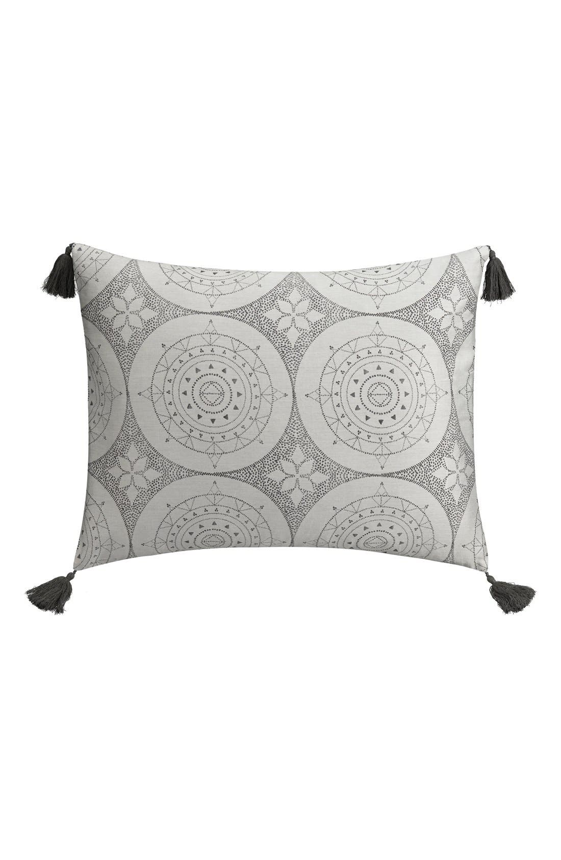 Dotted Medallion Sham,                         Main,                         color, Grey