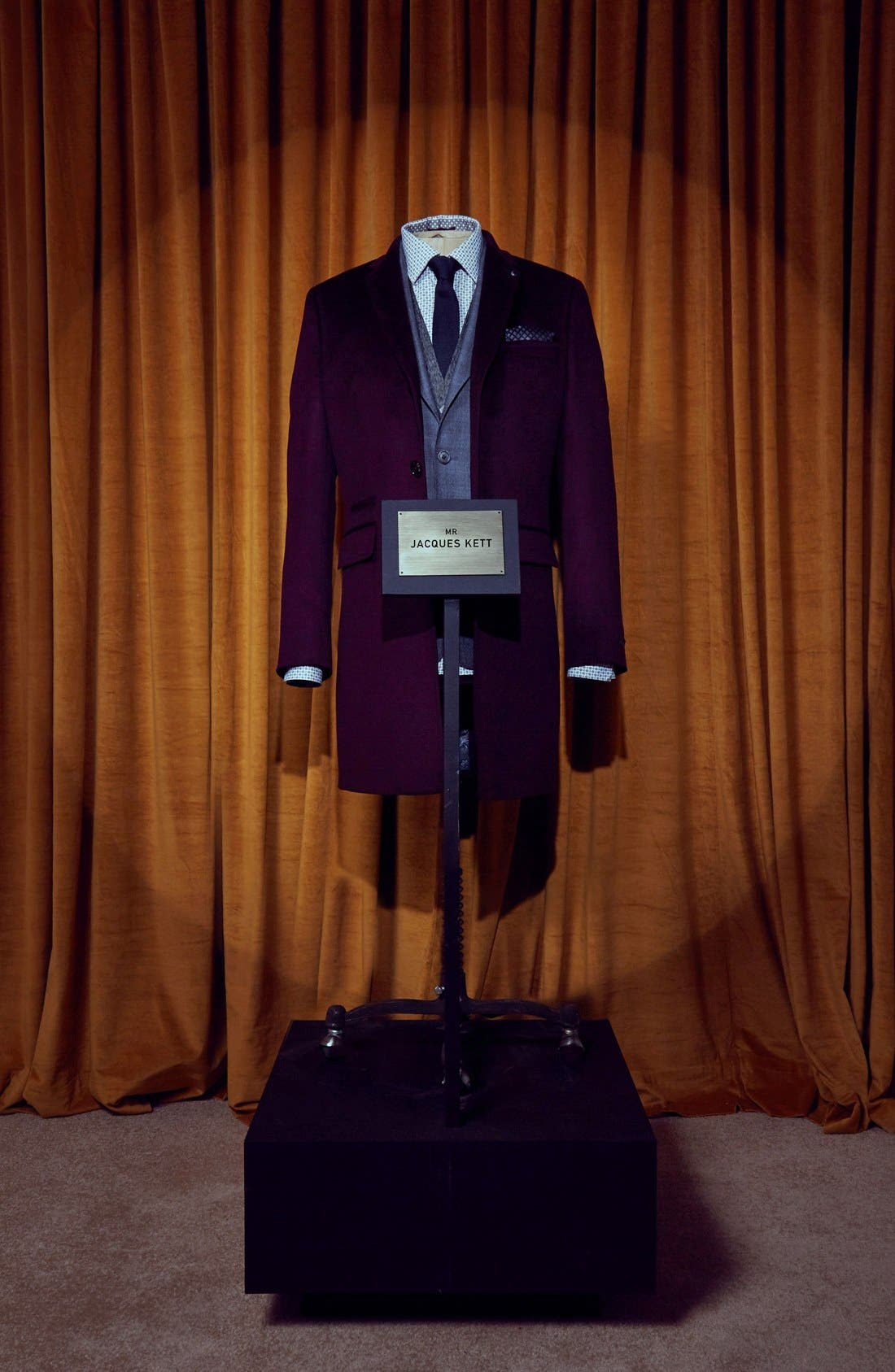 Alternate Image 6  - Ted Baker London Alaska Trim Fit Wool & Cashmere Overcoat