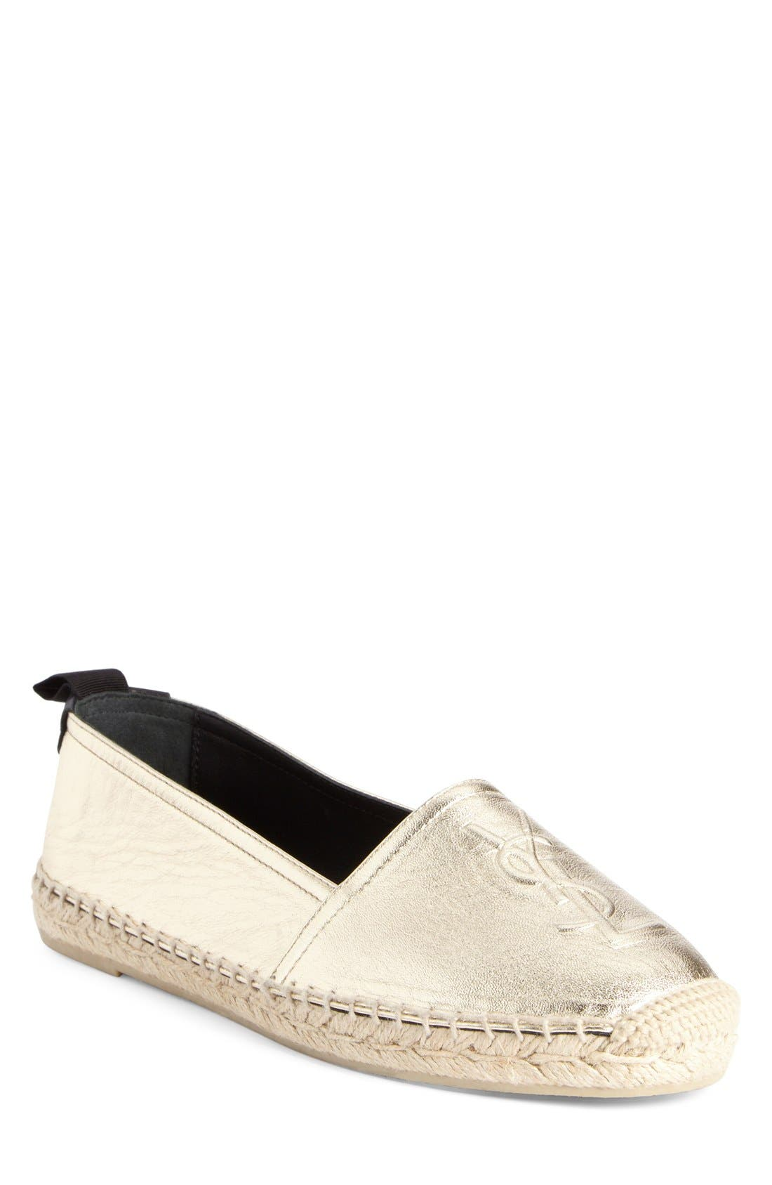 Saint Laurent Logo Espadrille (Women)