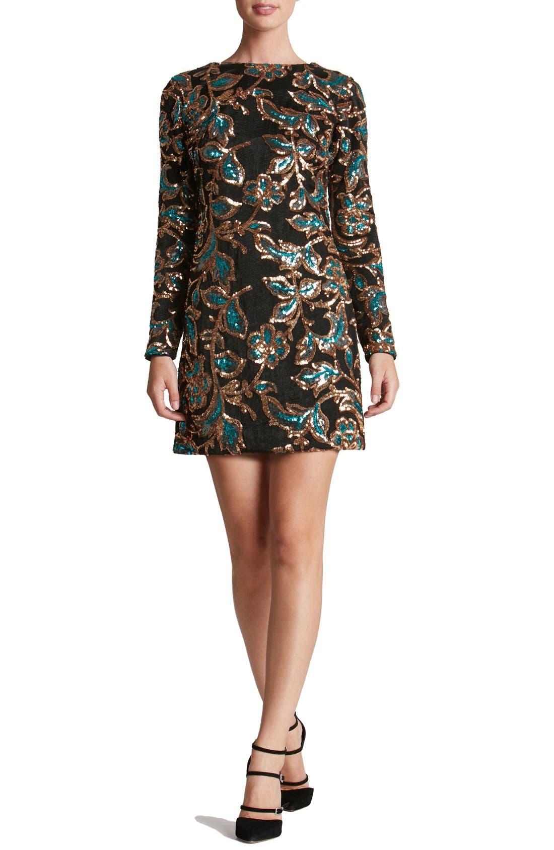 Alternate Image 1 Selected - Dress the Population 'Naomi' Sequin Minidress