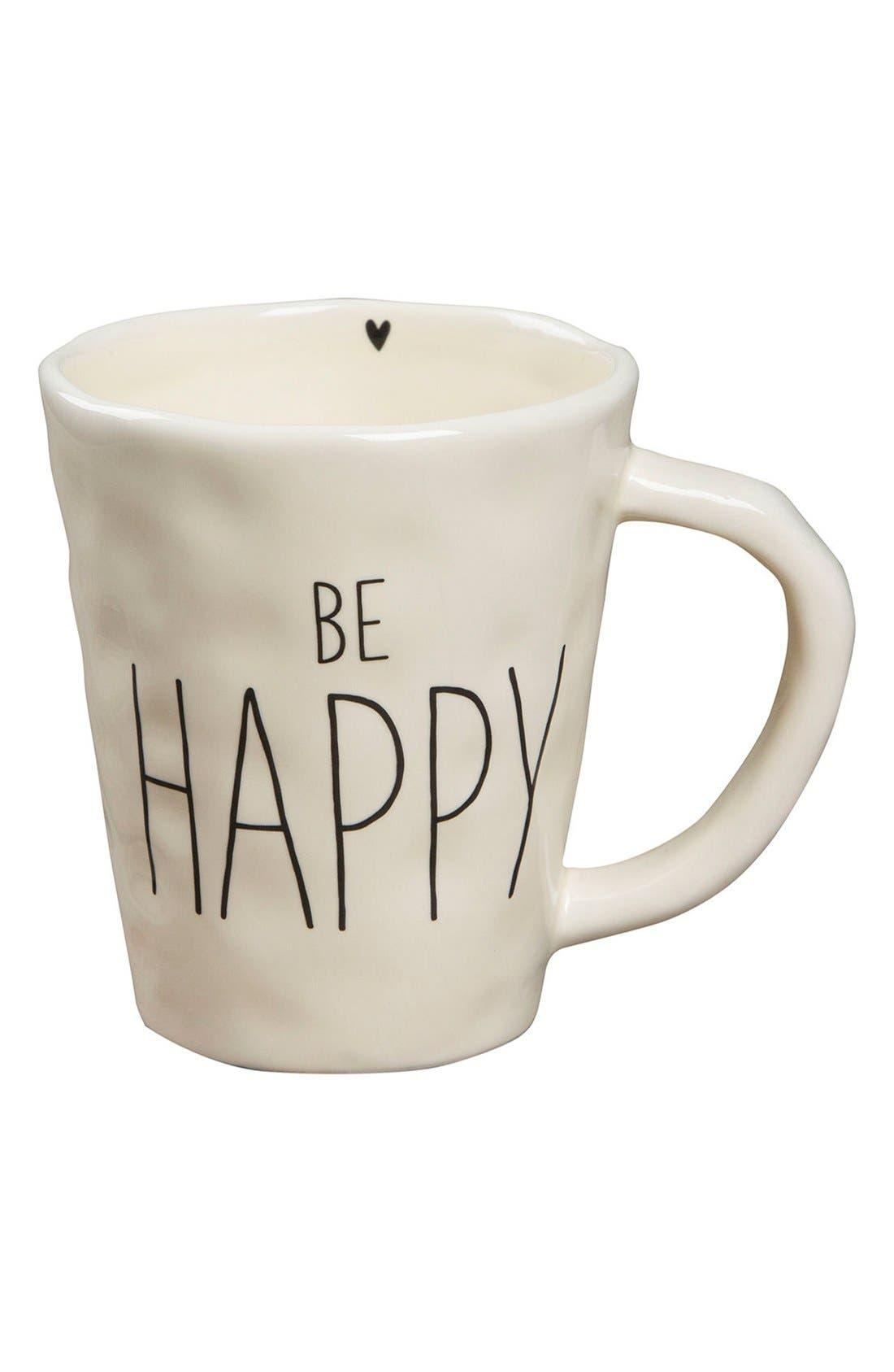 Alternate Image 1 Selected - Natural Life 'Be Happy' Ceramic Mug
