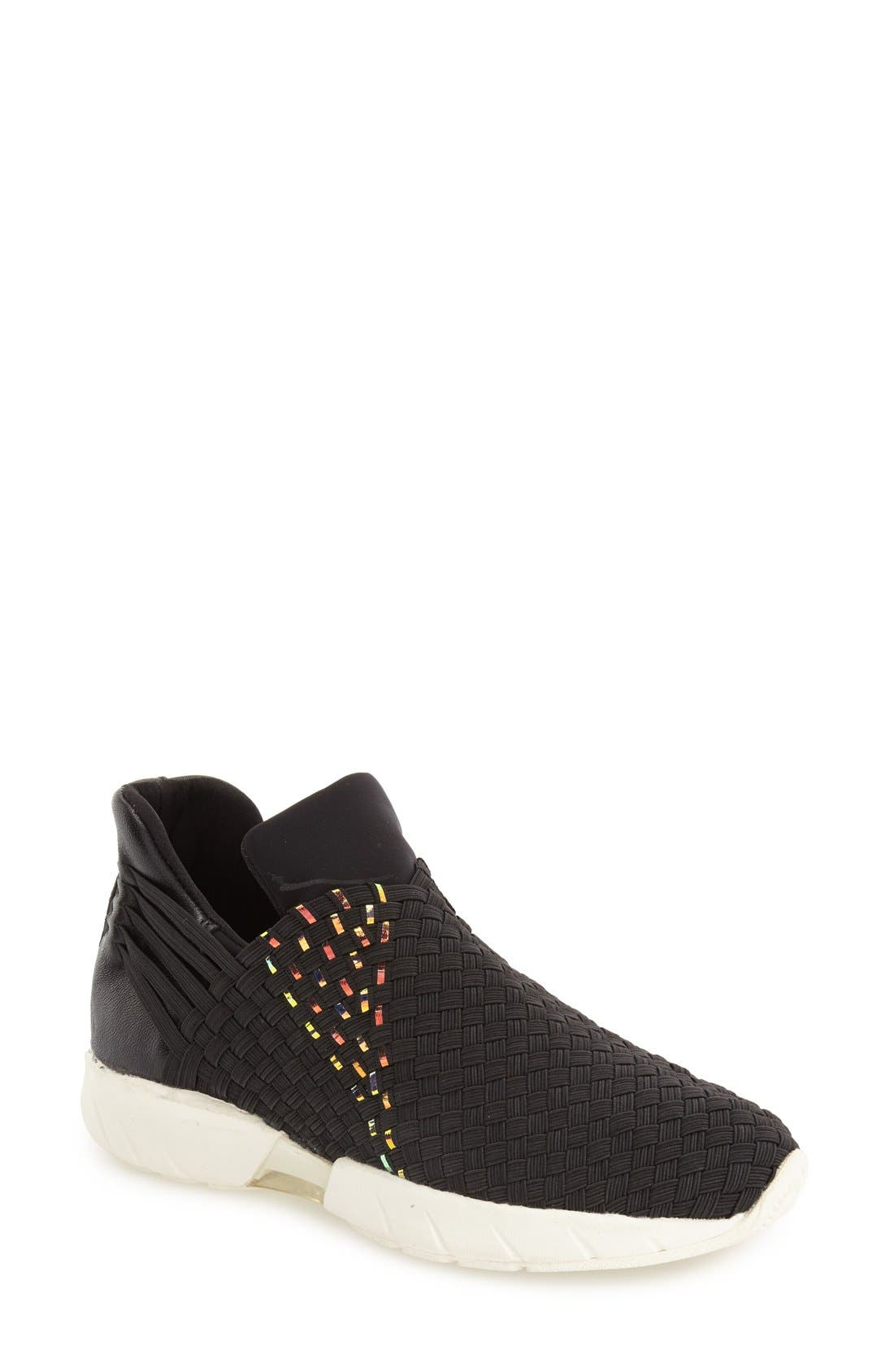 Alternate Image 1 Selected - bernie mev. 'Razer' Woven Slip-On Sneaker (Women)