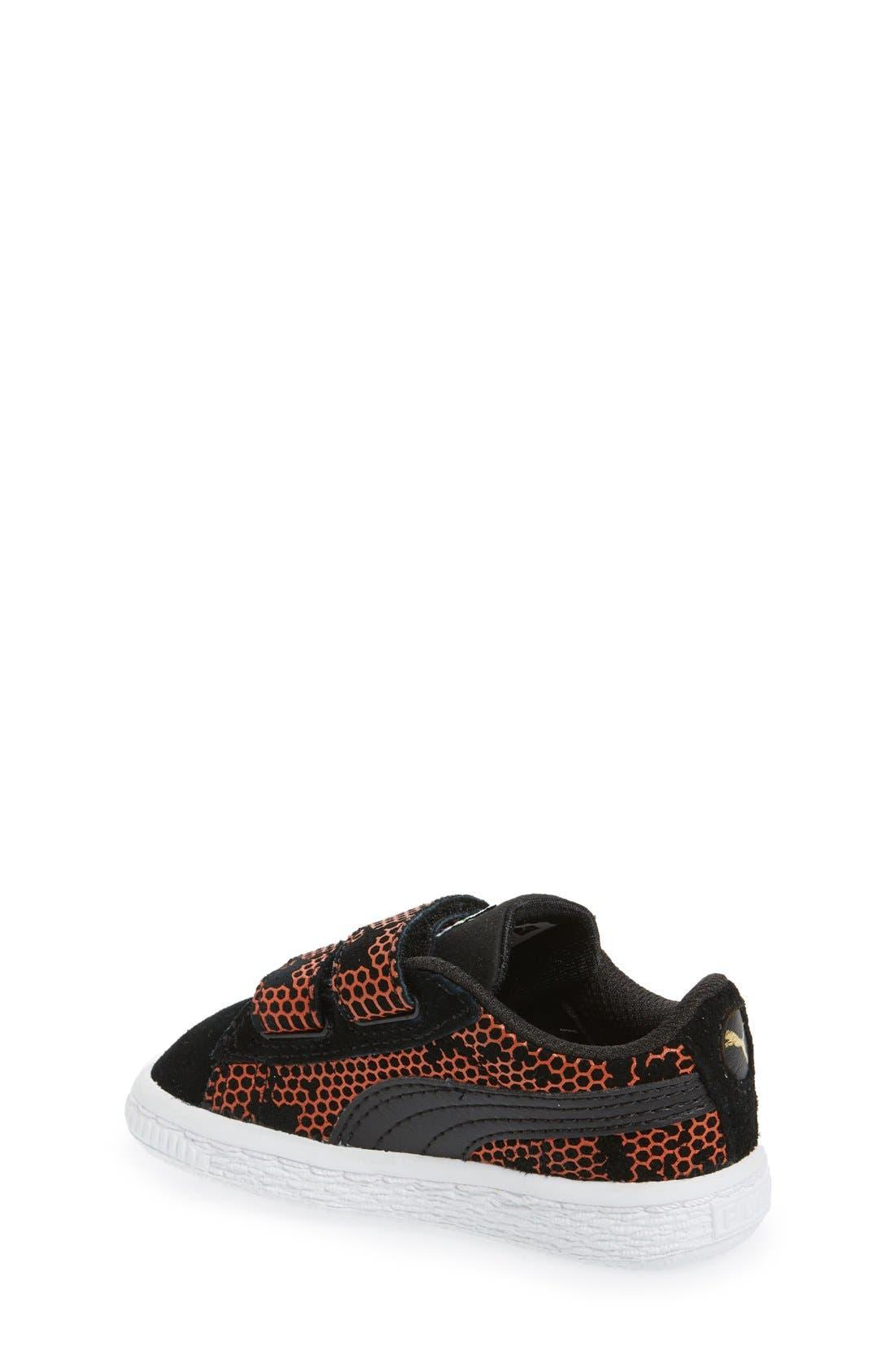 'Night Camo' Sneaker,                             Alternate thumbnail 2, color,                             Puma Black/ Mandarine Red