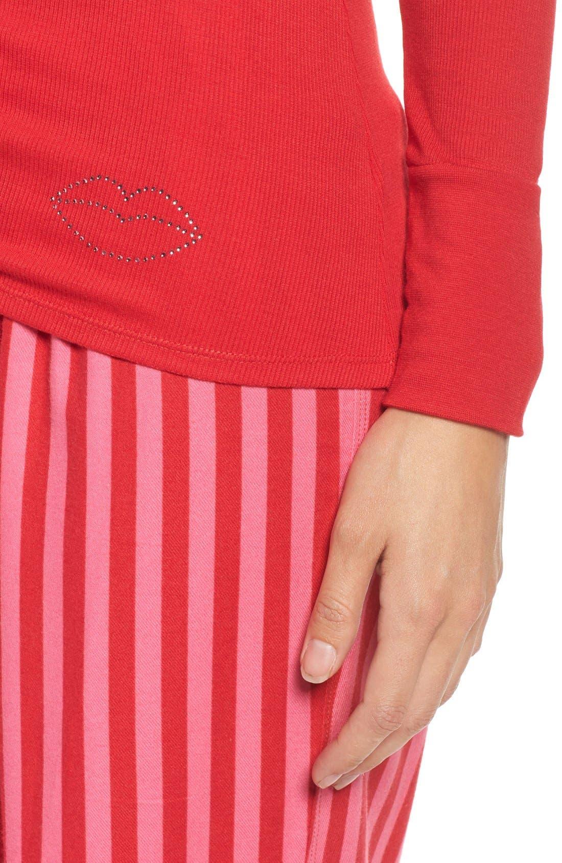 Alternate Image 5  - Betsey Johnson Flannel Pajamas