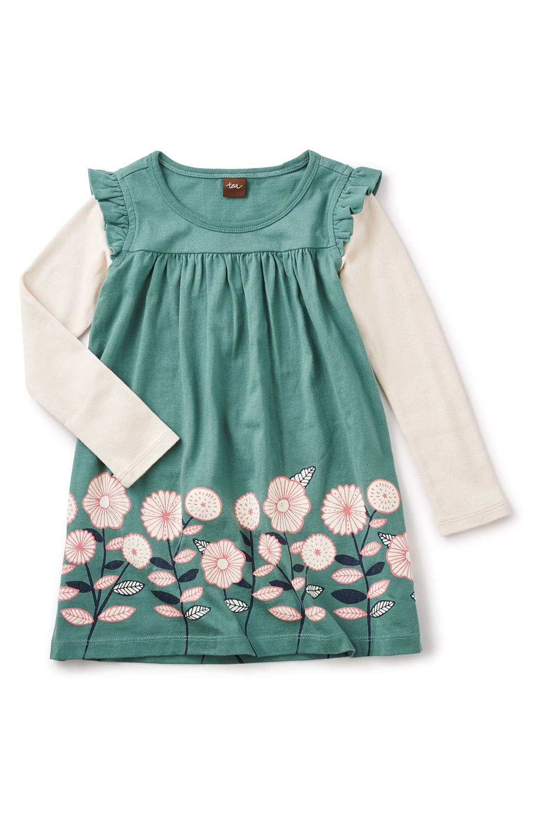 Main Image - Tea Collection 'Midori - Double Decker' Layered Dress (Toddler Girls, Little Girls & Big Girls)