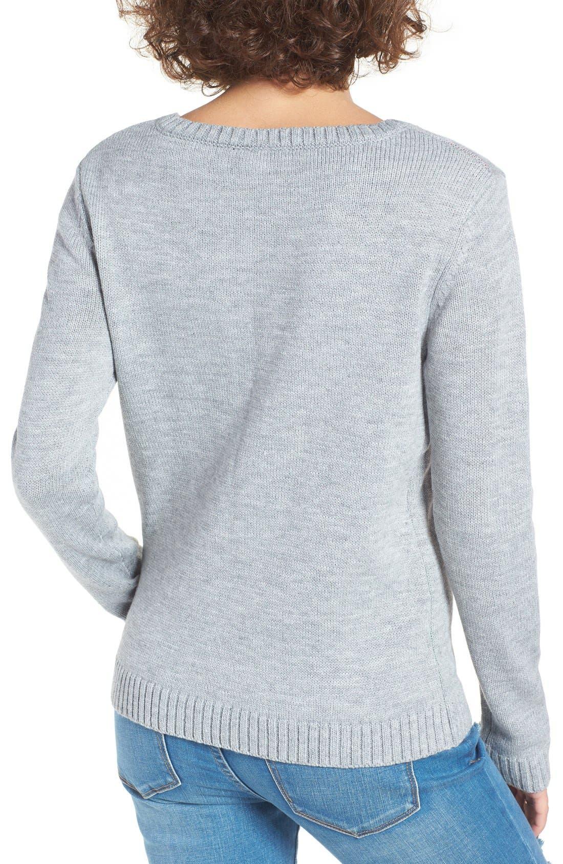 Alternate Image 2  - Love By Design Elf Body Christmas Sweater
