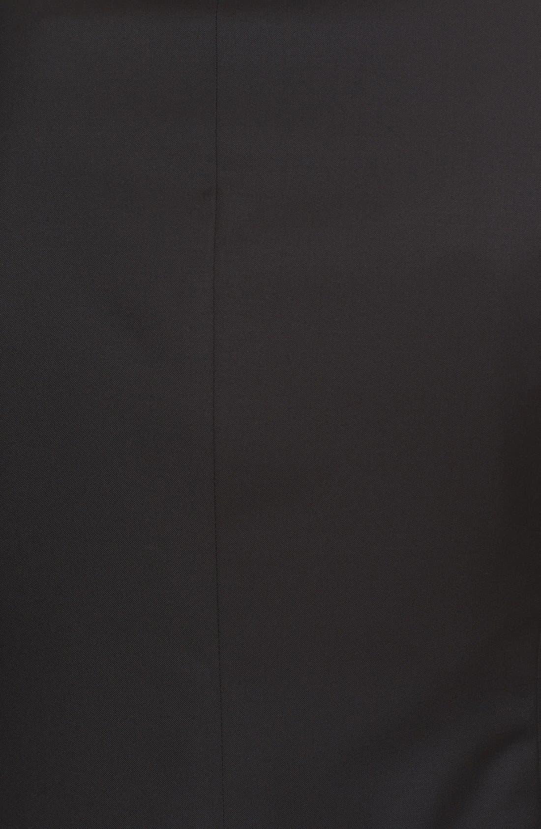 Trim Fit Wool & Mohair Tuxedo,                             Alternate thumbnail 6, color,                             Black