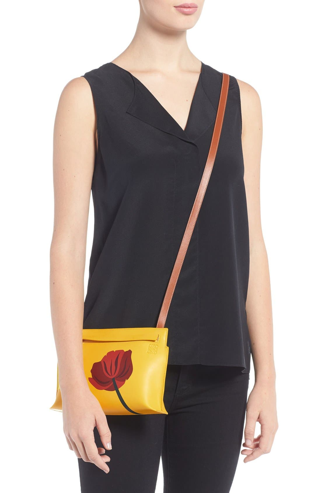 Alternate Image 2  - Loewe 'Fiore' Marquetry Calfskin Leather Crossbody Clutch