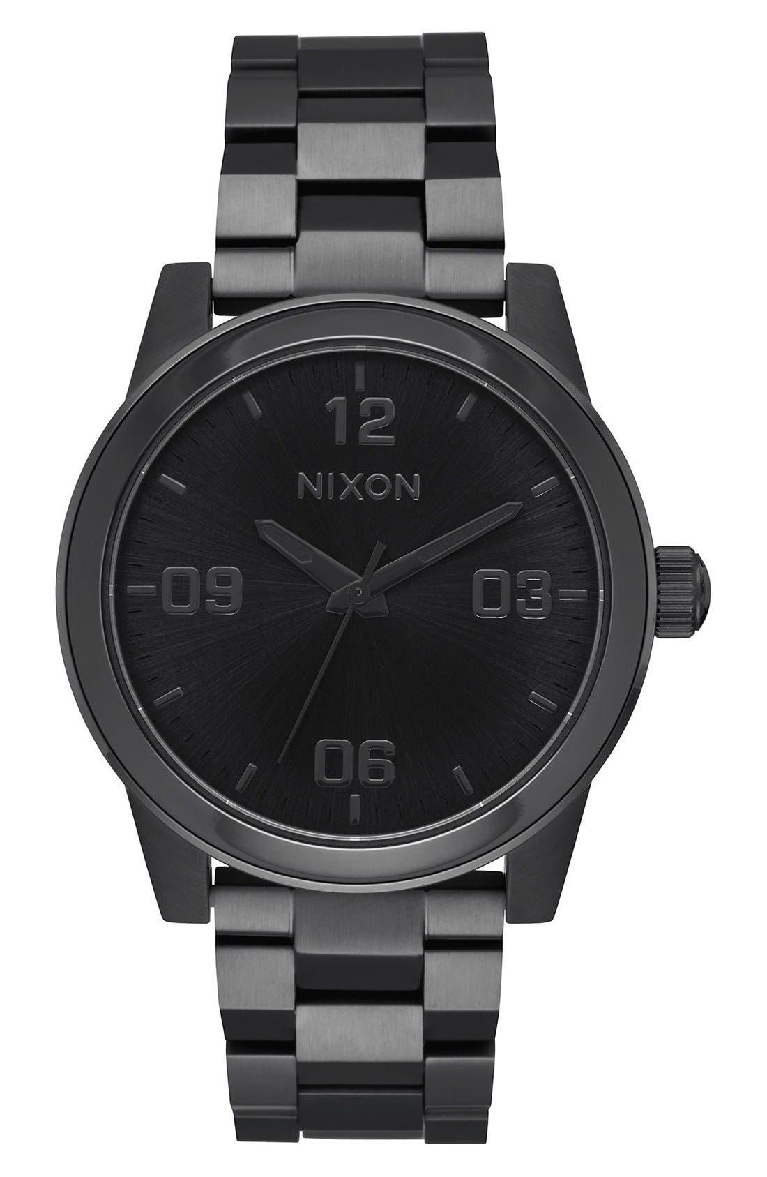 G.I. Bracelet Watch, 36mm,                             Main thumbnail 1, color,                             Black