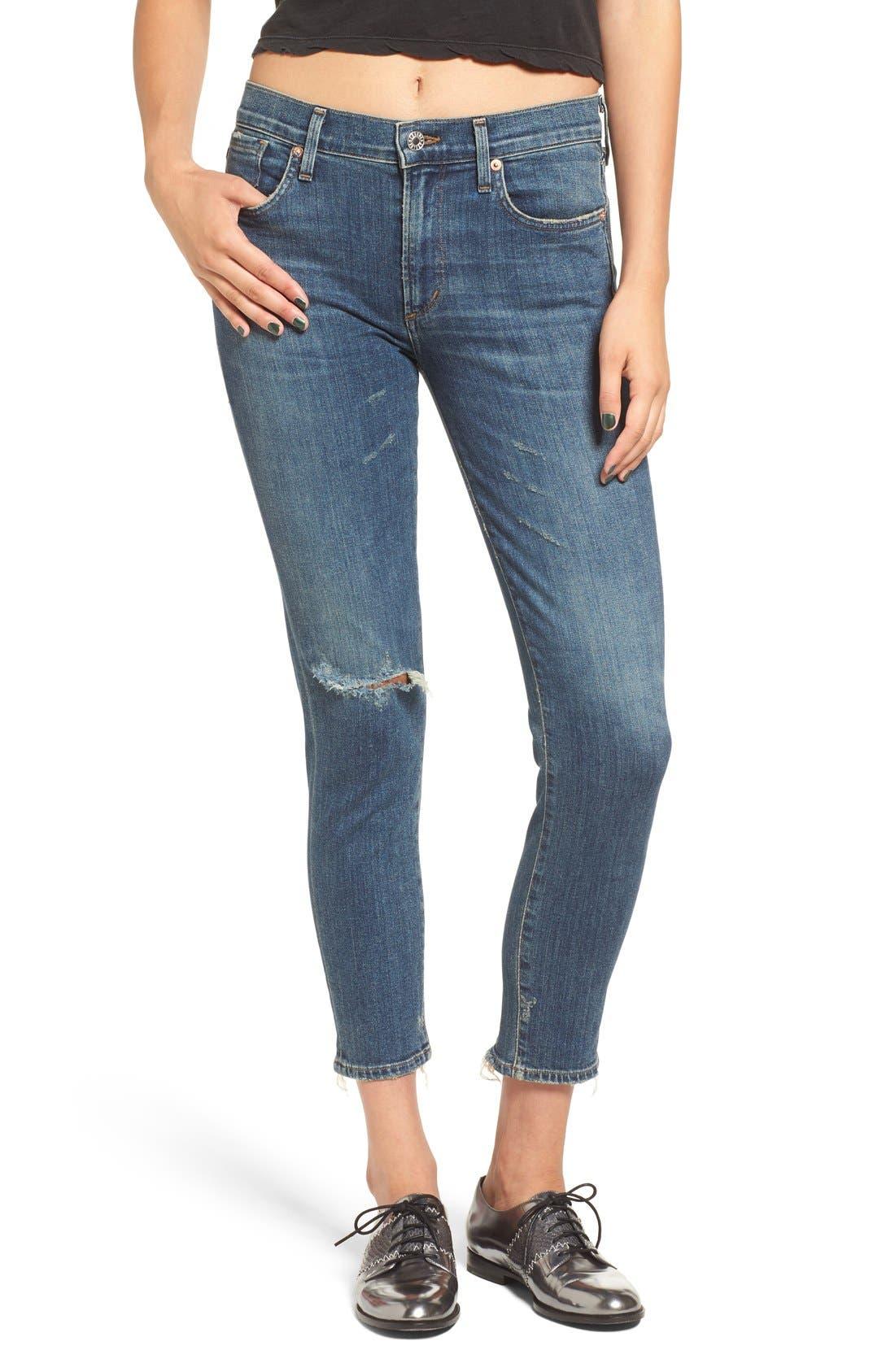 Alternate Image 2  - AGOLDE Sophie Crop High Rise Skinny Jeans (Santa Fe) (Women)