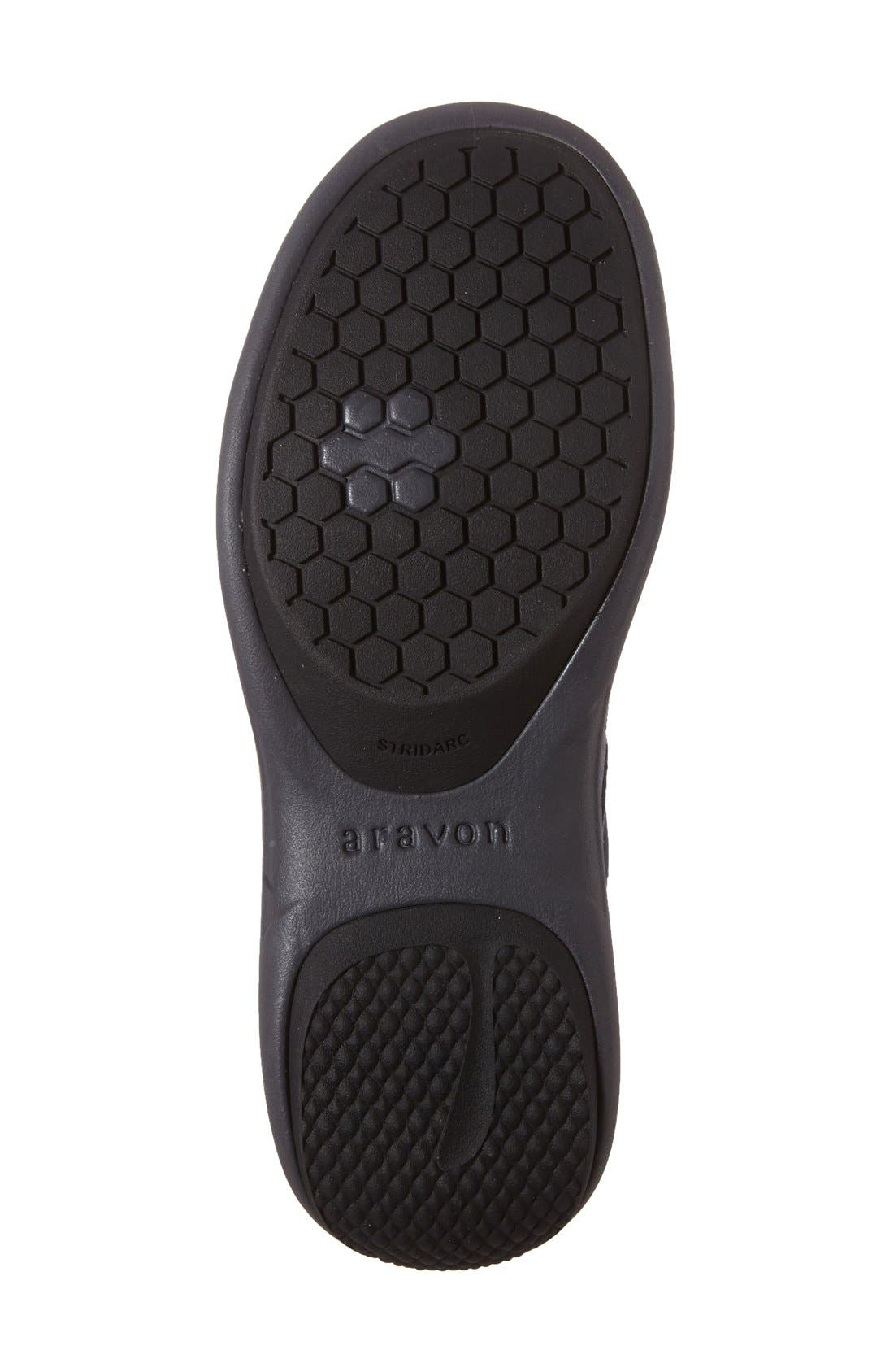 'REVsavor' Waterproof Sneaker,                             Alternate thumbnail 4, color,                             Navy Leather