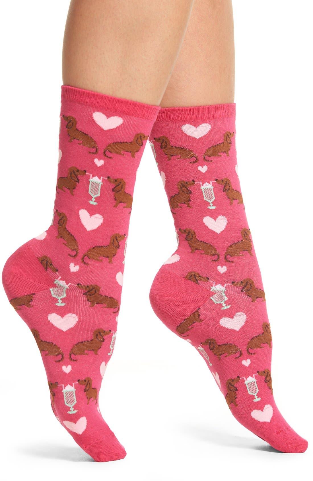 Hot Sox 'Dogs & Milkshake' Crew Socks (3 for $15)