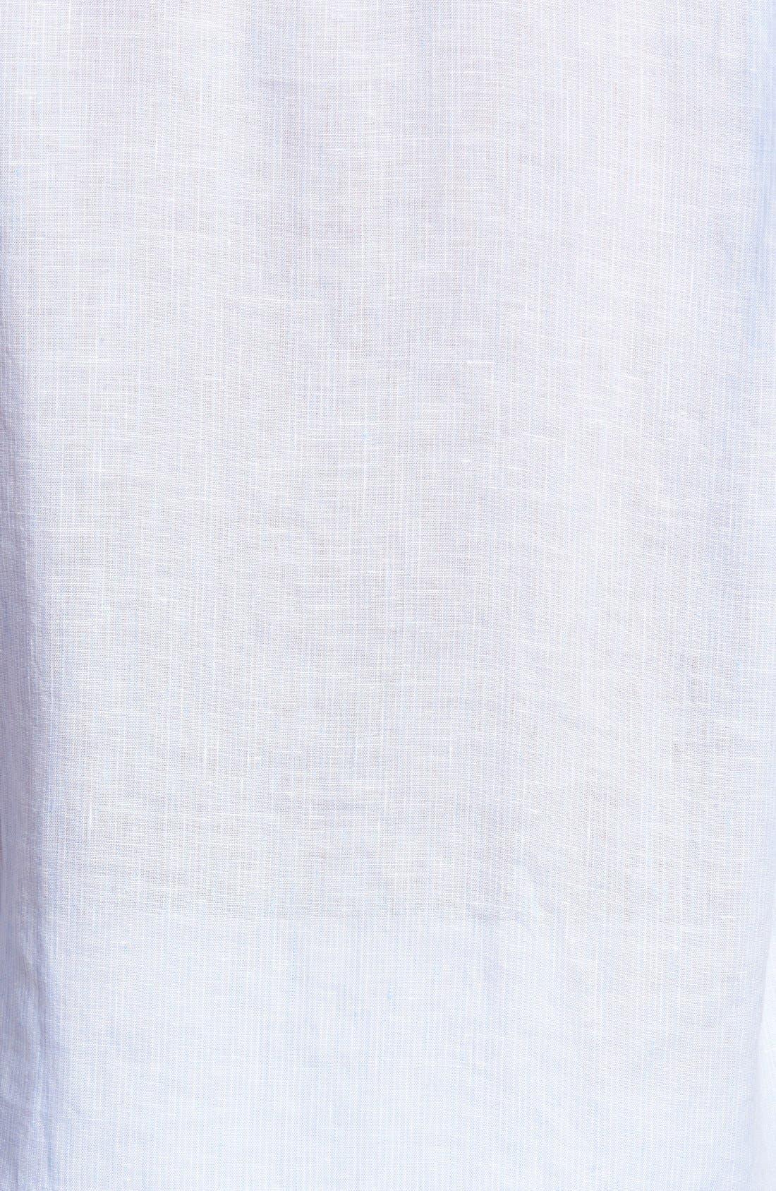 Regular Fit Linen Sport Shirt,                             Alternate thumbnail 5, color,                             Sky Blue