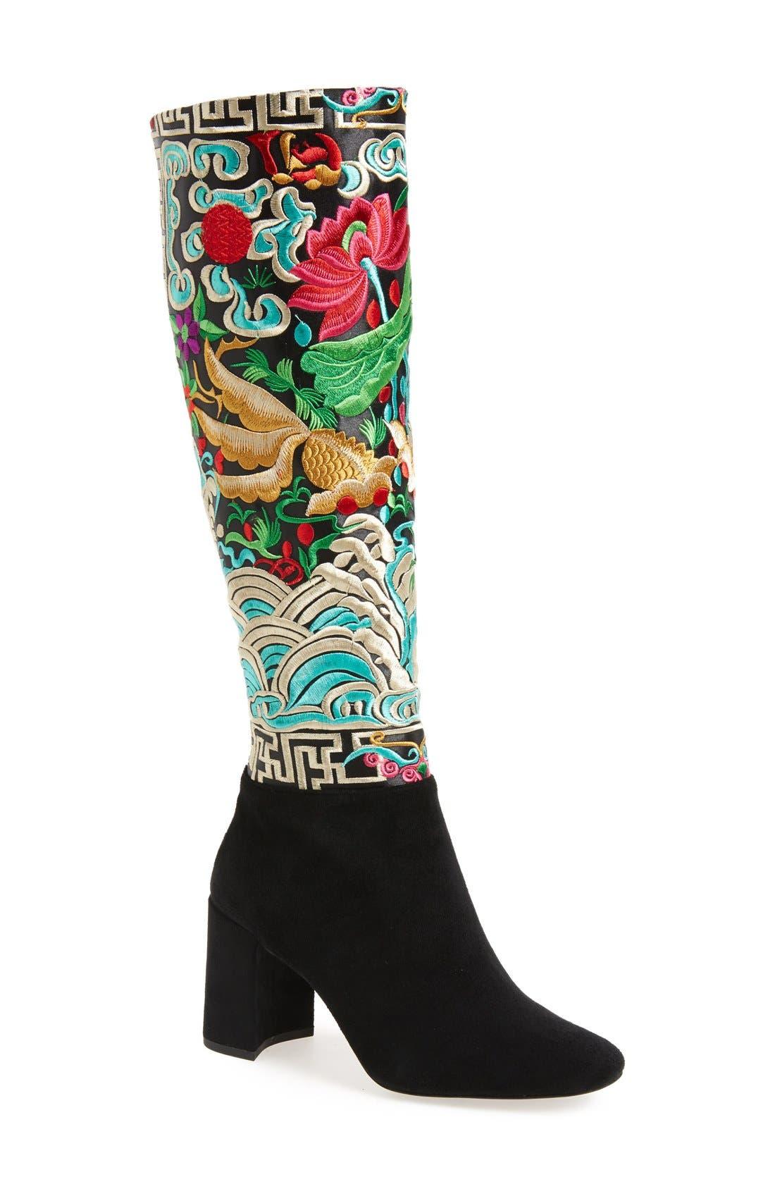 Alternate Image 1 Selected - Jeffrey Campbell Frieze Knee High Boot (Women)