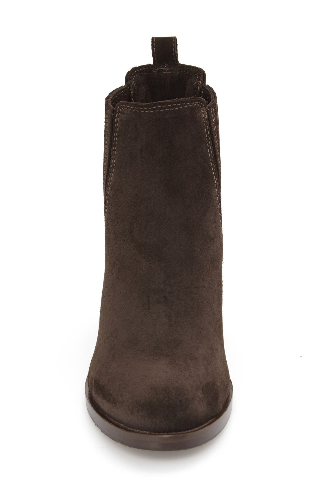 Prince Waterproof Bootie,                             Alternate thumbnail 3, color,                             Brown Suede