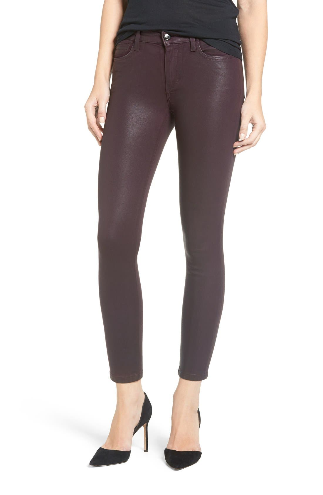 Jeans Icon Ankle Skinny Jeans,                             Main thumbnail 1, color,                             Deep Orchid Coated