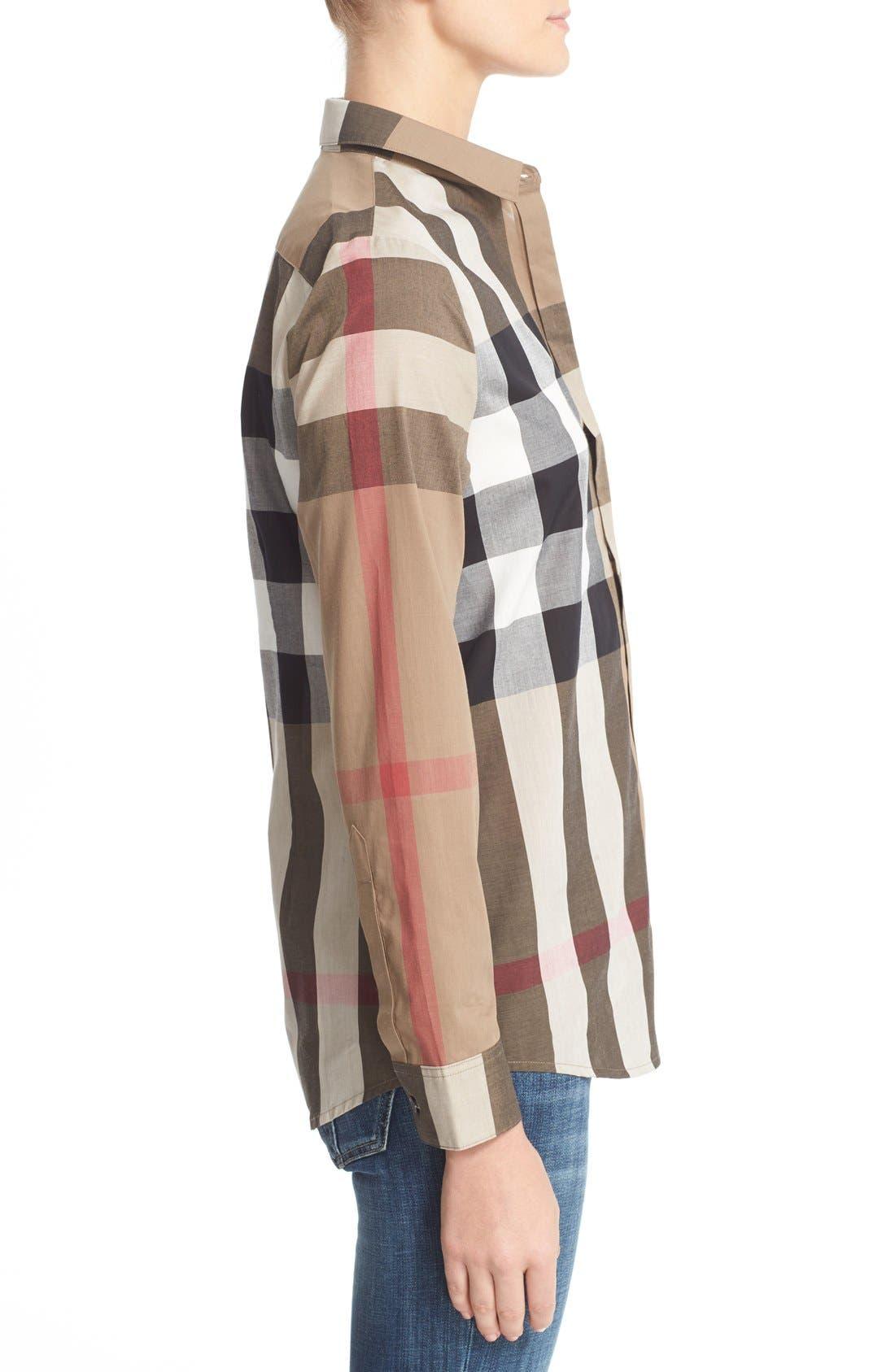 Alternate Image 5  - Burberry Check Pattern Cotton Shirt