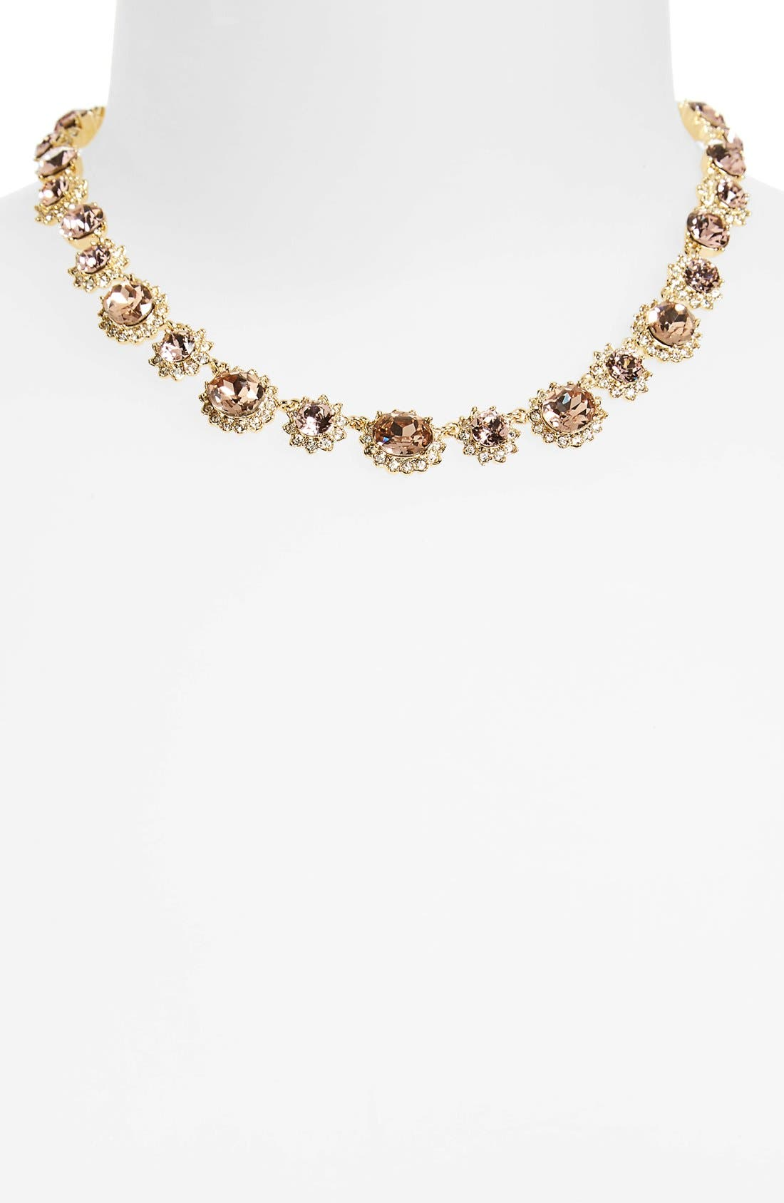 Alternate Image 2  - Marchesa Sunrise Swarovski Crystal Collar Necklace