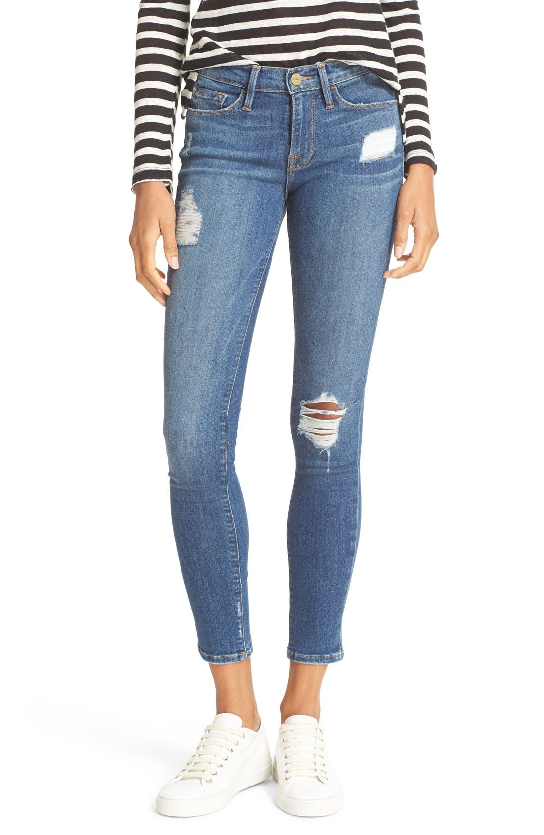 Alternate Image 1 Selected - FRAME 'Le Skinny de Jeanne' Jeans (Hilltop) (Nordstrom Exclusive)