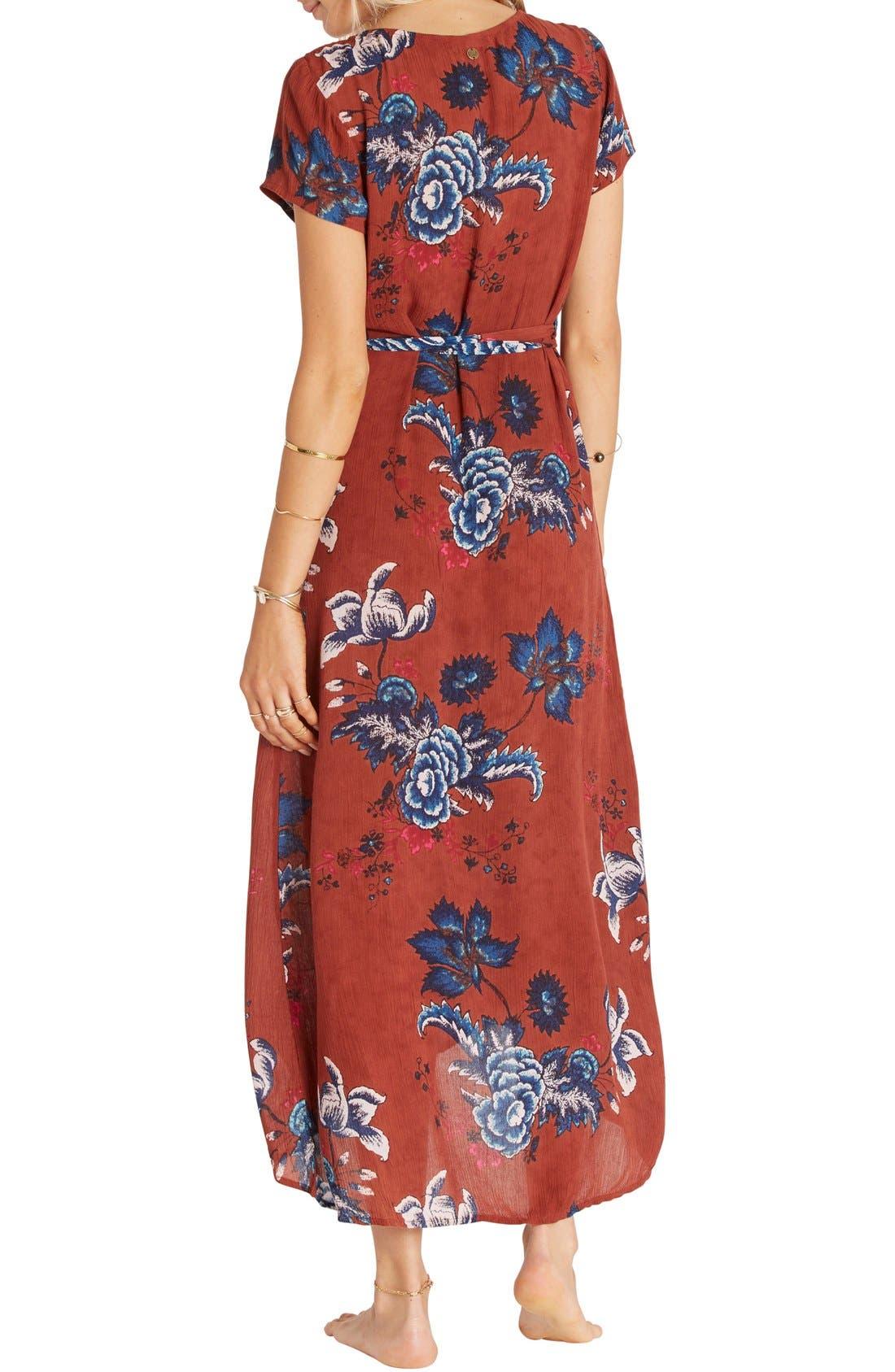 Alternate Image 2  - Billabong Wrap Me Up Floral Print Maxi Dress