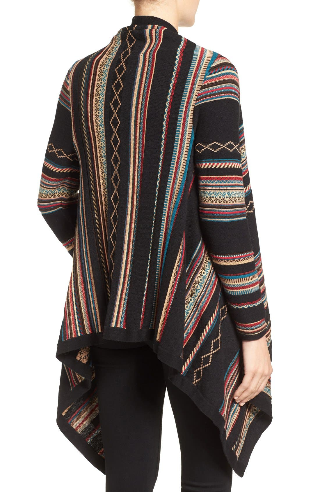 Stripe Jacquard Cardigan,                             Alternate thumbnail 2, color,                             Multi