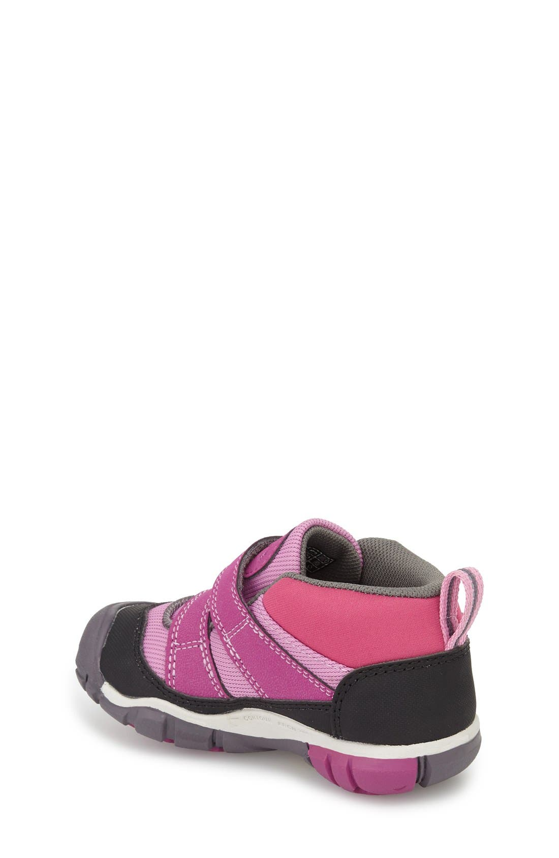Peek-a-Shoe Sneaker,                             Alternate thumbnail 2, color,                             Purple Wine