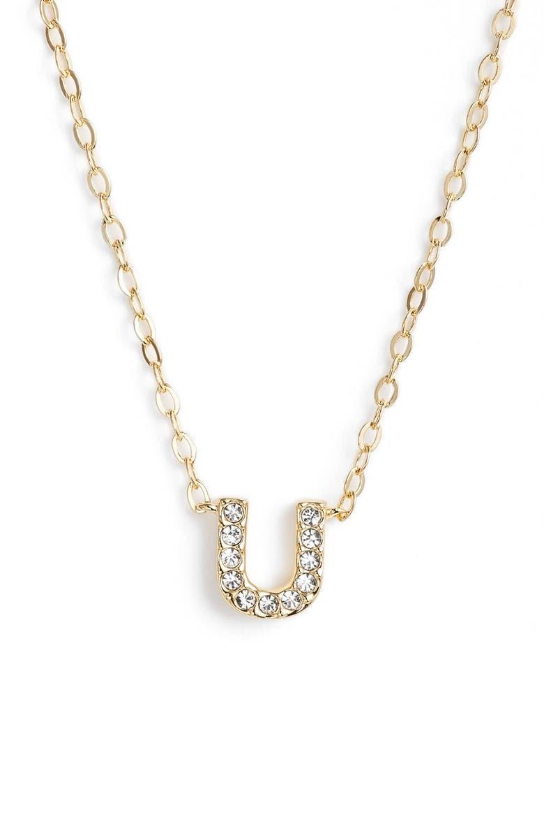 Nadri initial pendant necklace u gold modesens nadri initial pendant necklace u gold aloadofball Choice Image