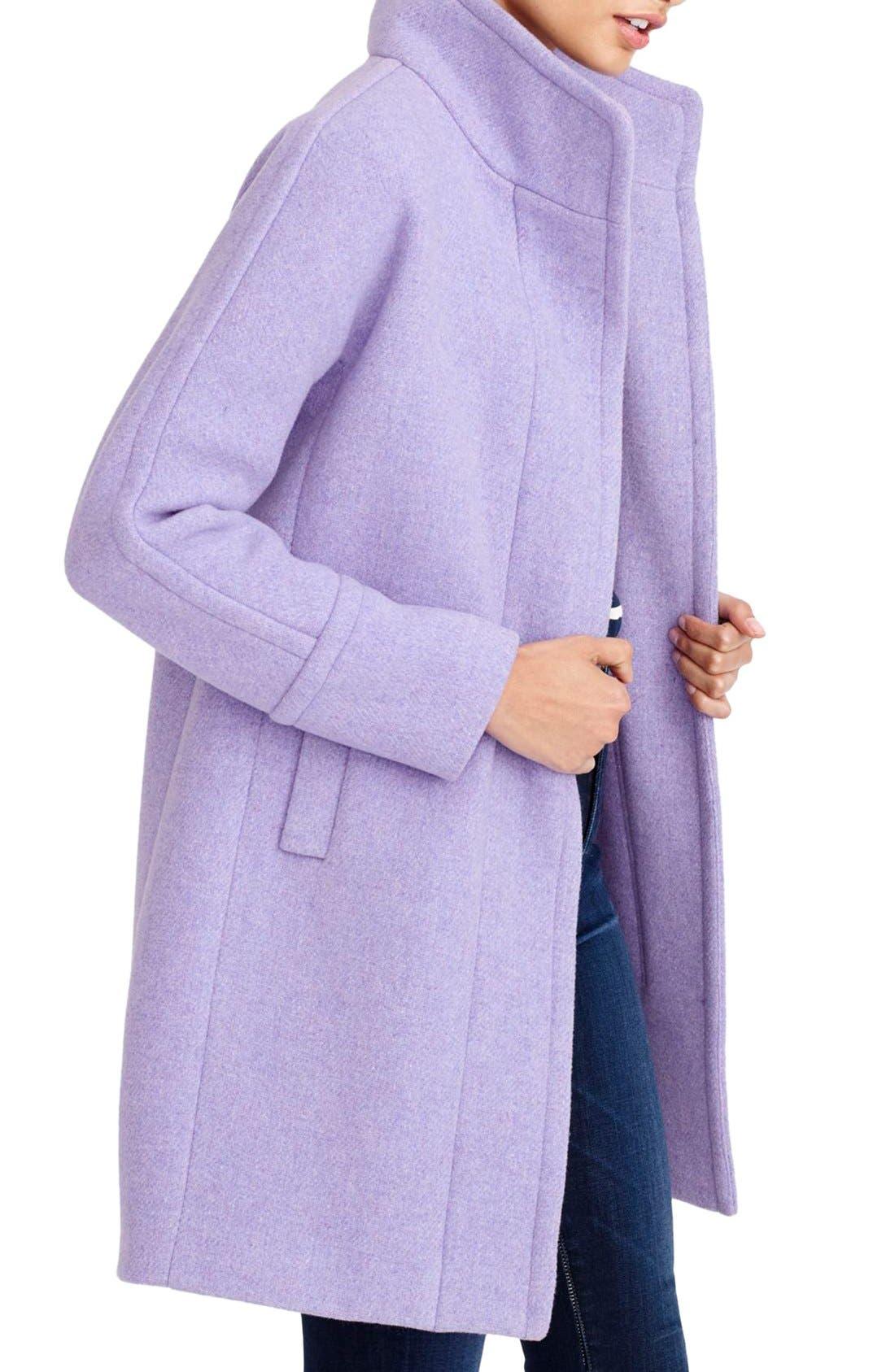 Alternate Image 2  - J.Crew Stadium Cloth Cocoon Coat (Regular & Petite)