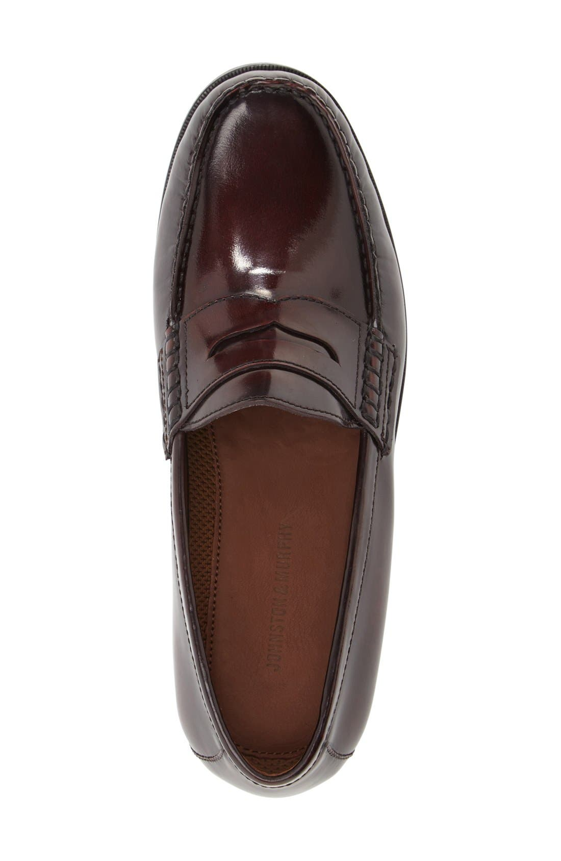 Pannell Penny Loafer,                             Alternate thumbnail 3, color,                             Burgundy Leather