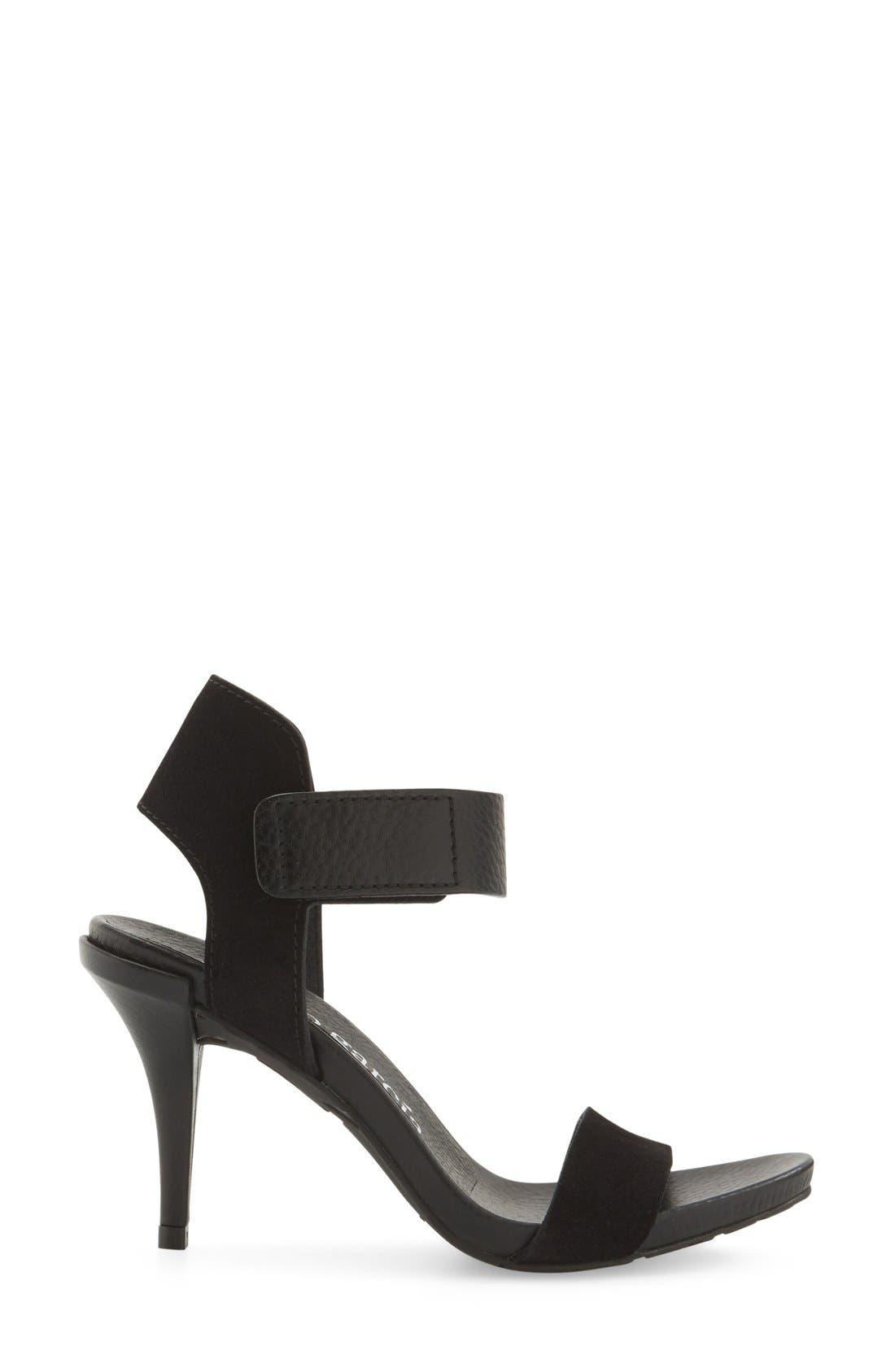 Yola Sandal,                             Alternate thumbnail 4, color,                             Black Leather