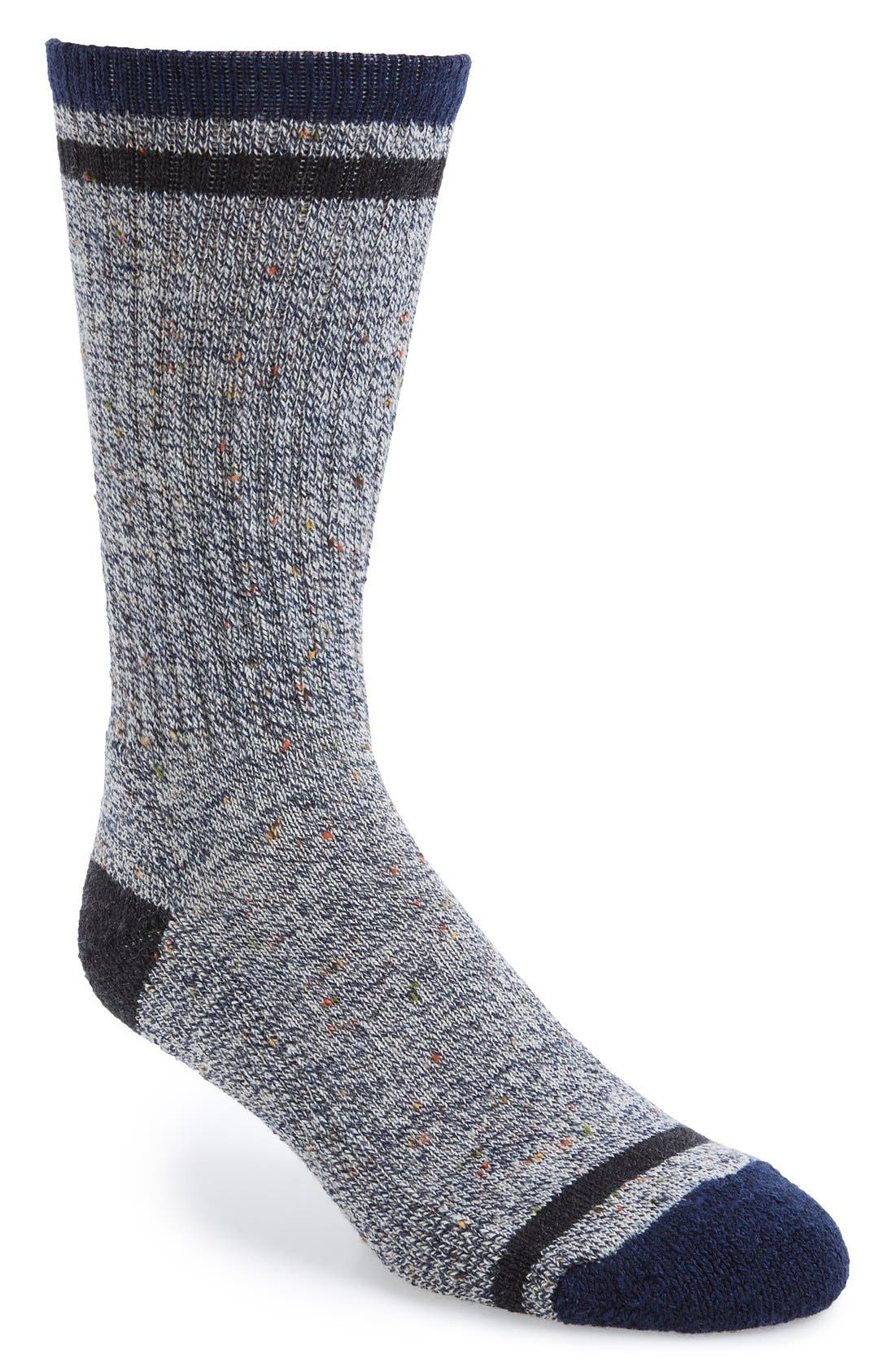 'Larimer' Crew Socks,                             Main thumbnail 1, color,                             Deep Navy Heather