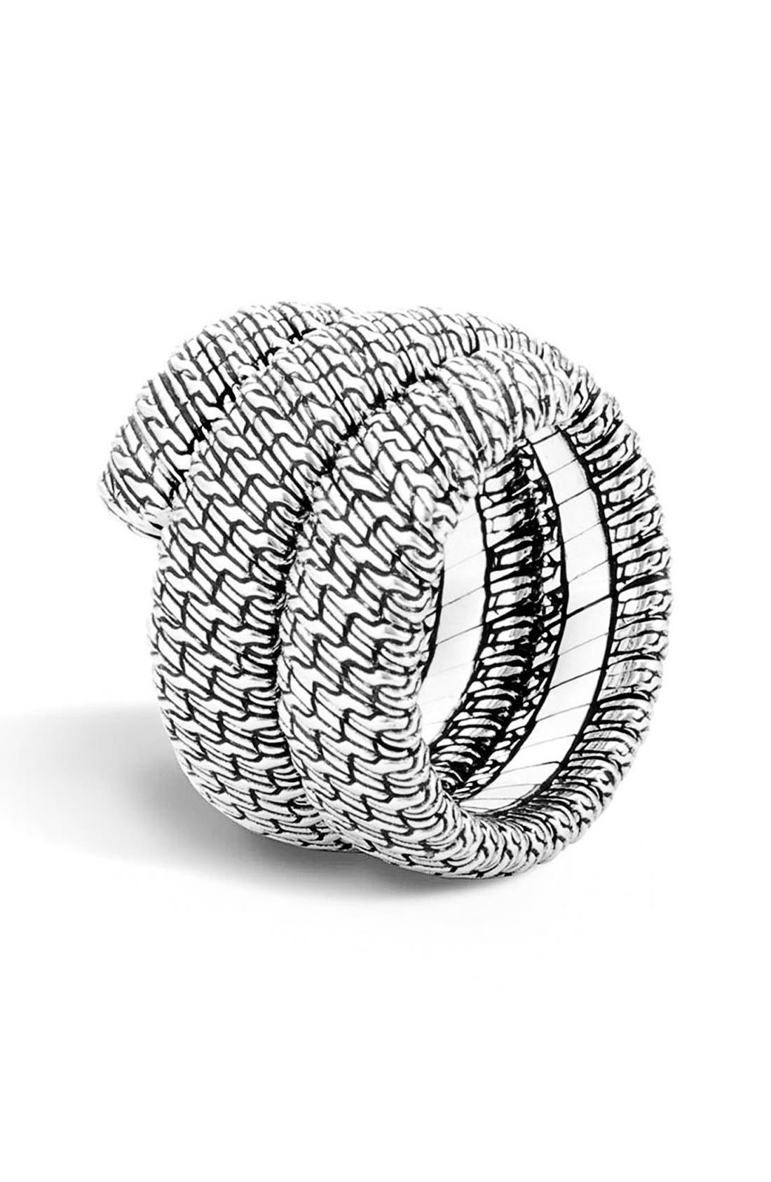 John Hardy 'Classic Chain' Double Coil Ring